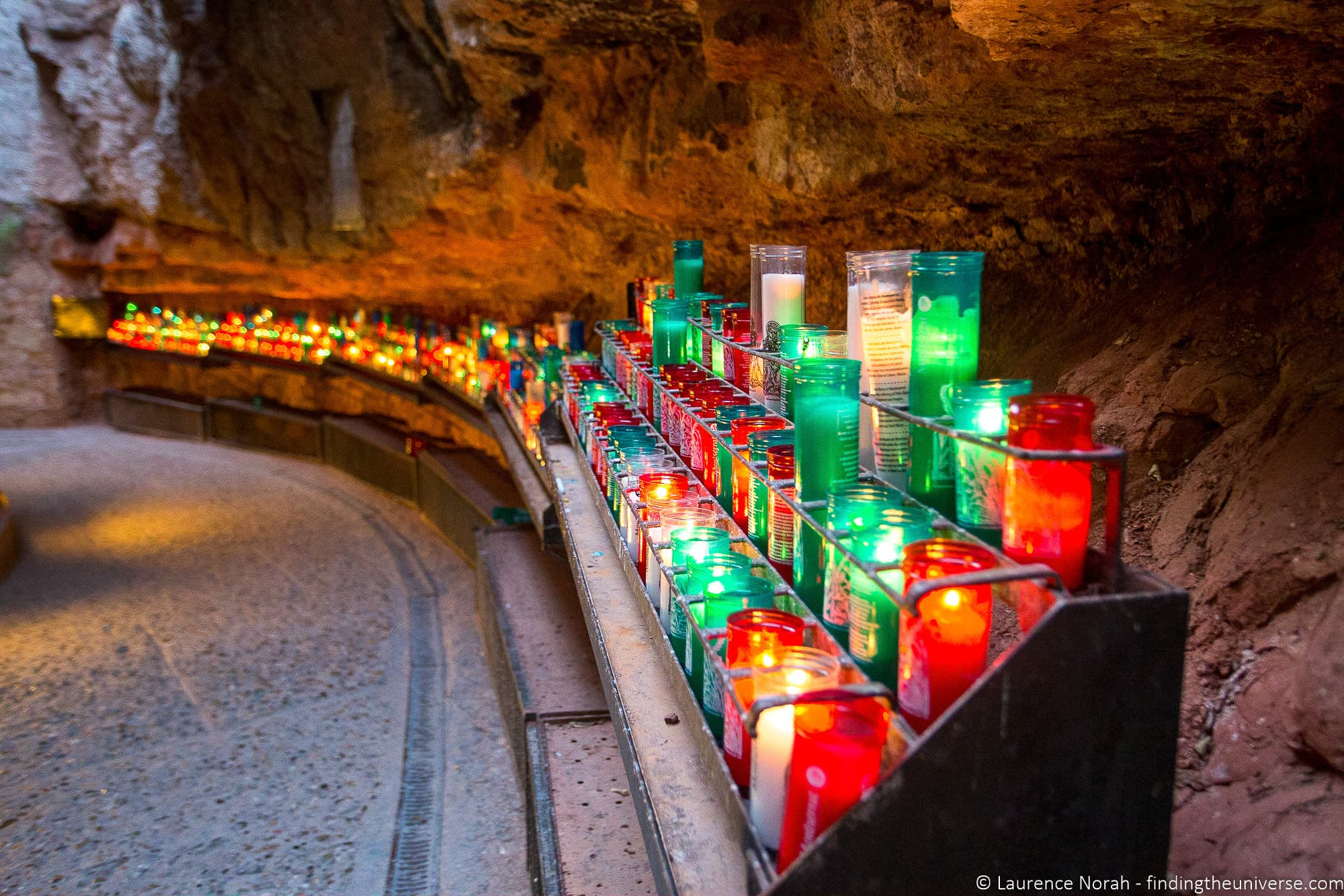 Ave Maria path candles Montserrat