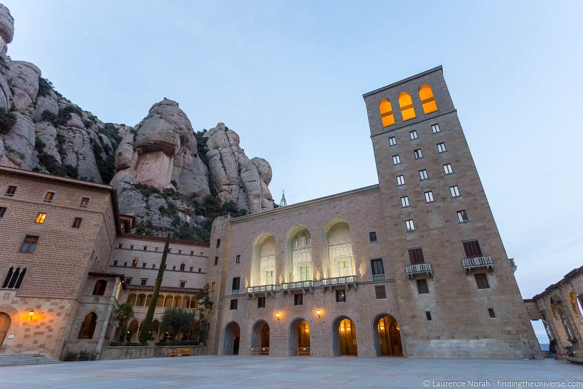 Exterior of Monserrat Abbey