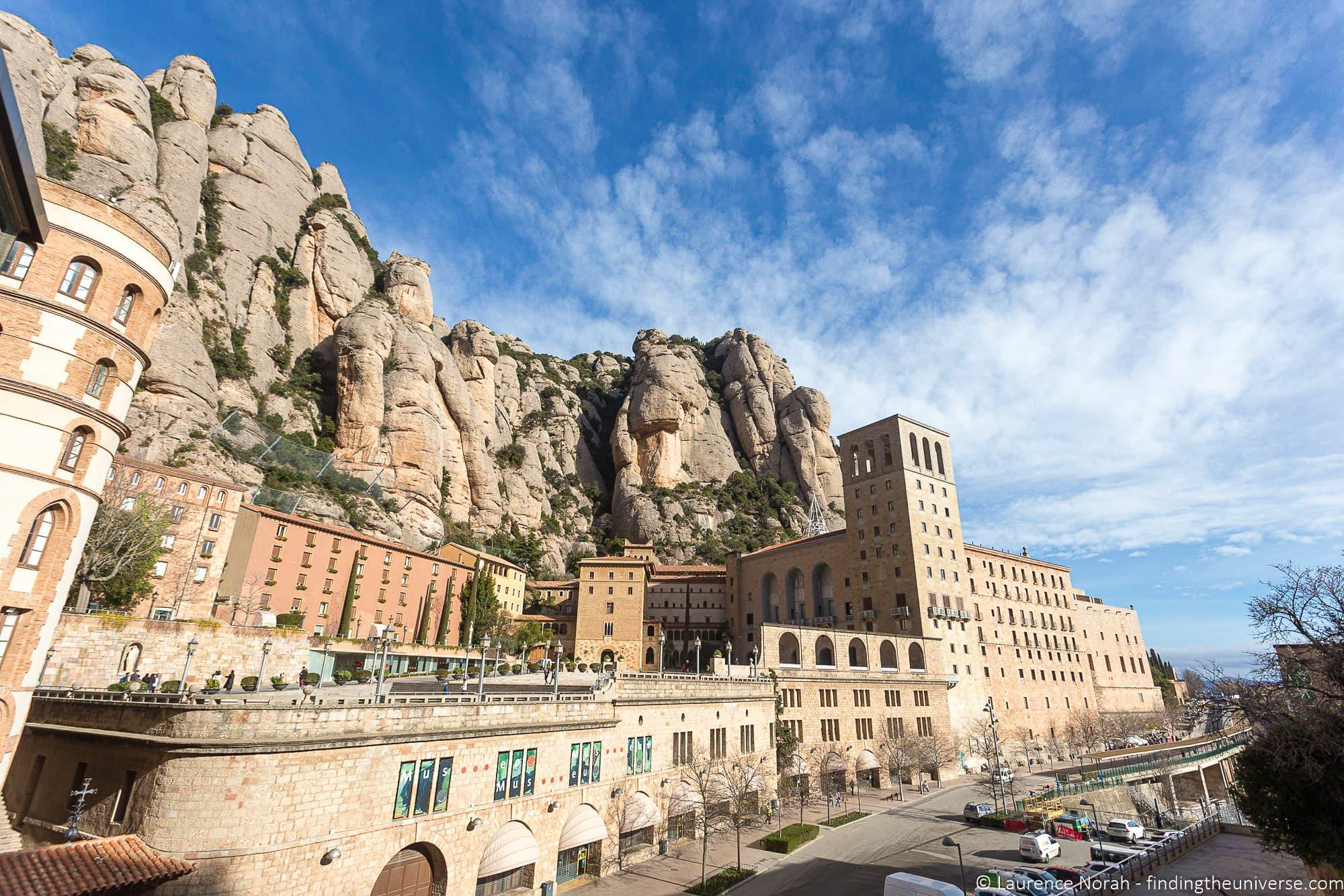 Exterior of Montserrat Spain