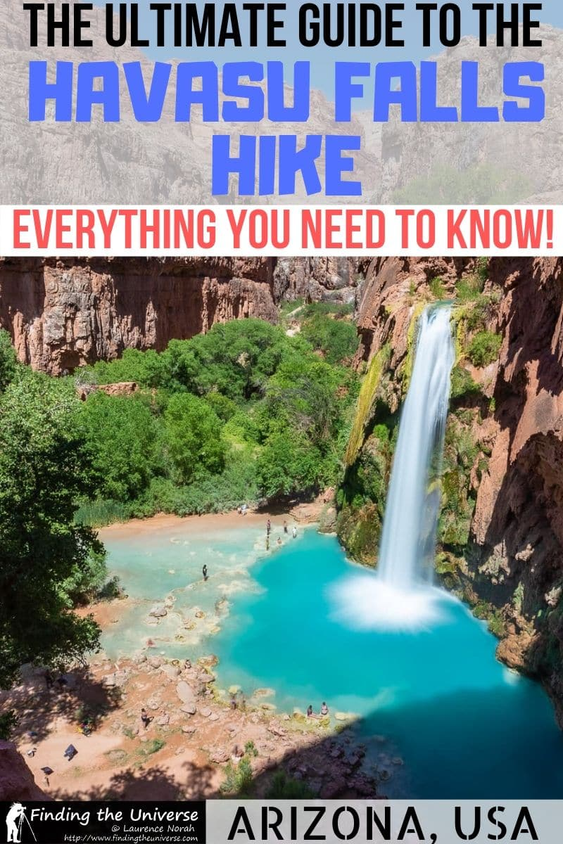 A detailed guide to the Havasu falls hike, including how to book, where to stay, tips for hiking, camping and photography, what to pack for Havasu, and more!