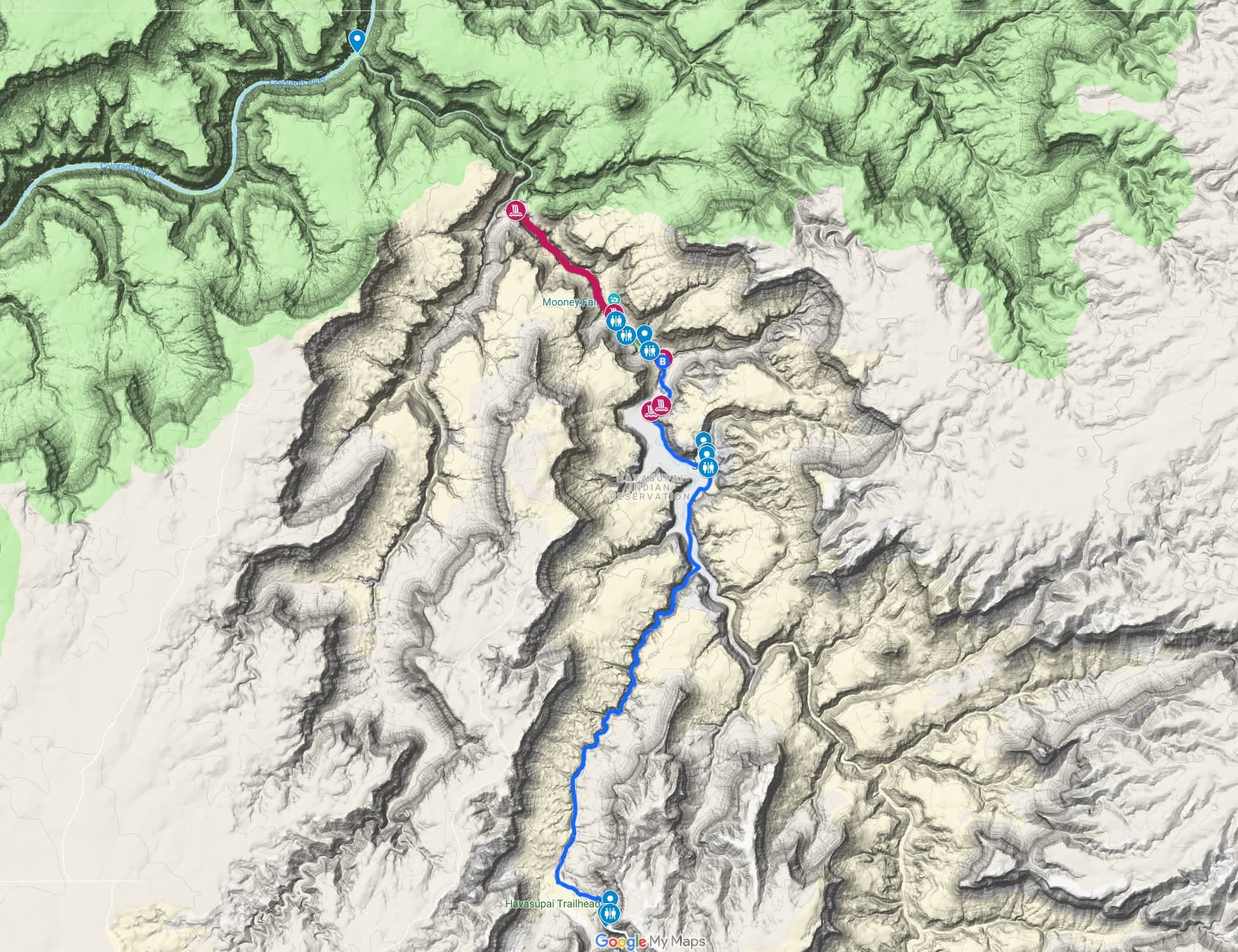 Havasupai Trail Map