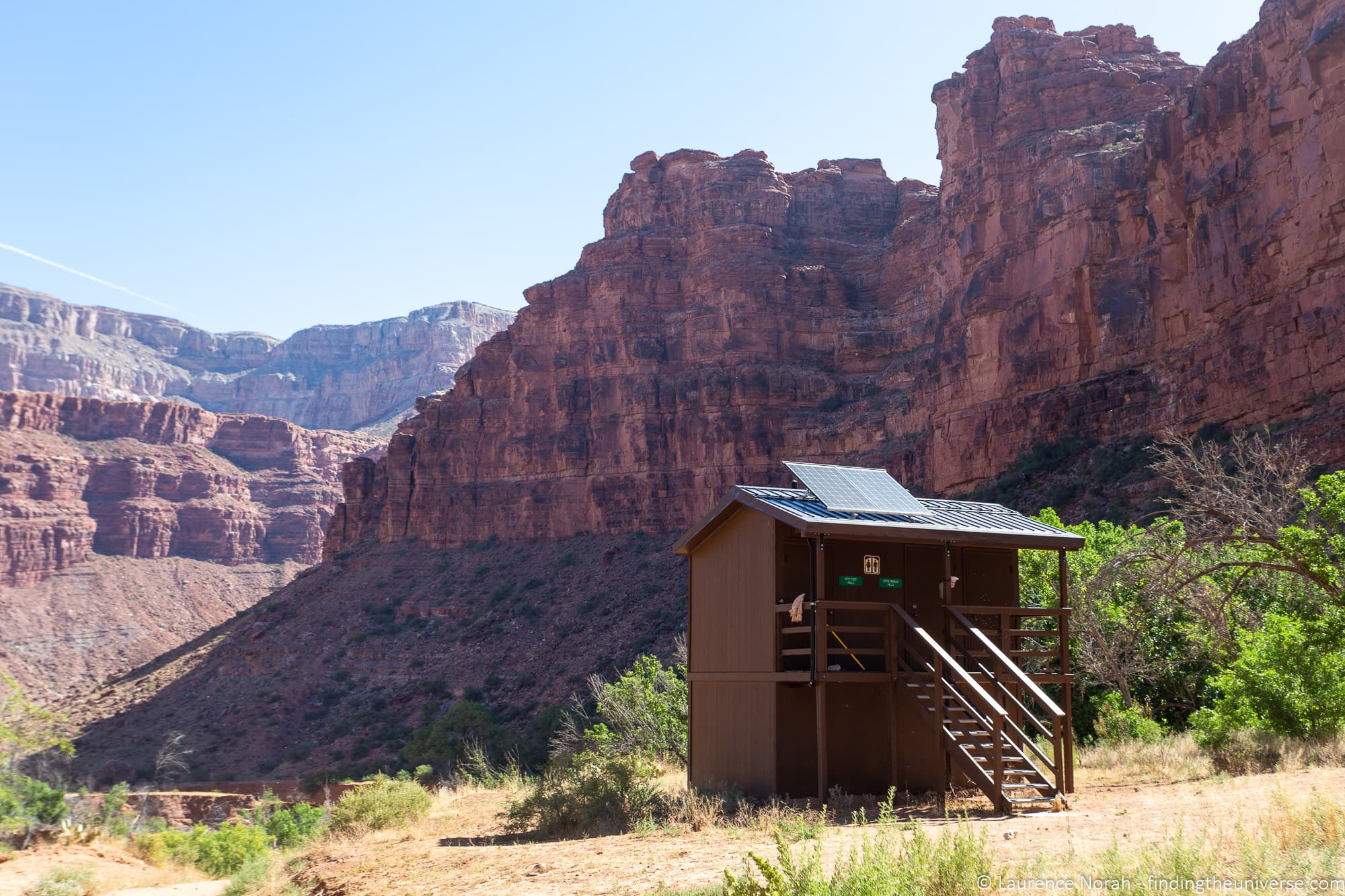 Toilet at Havasu Falls