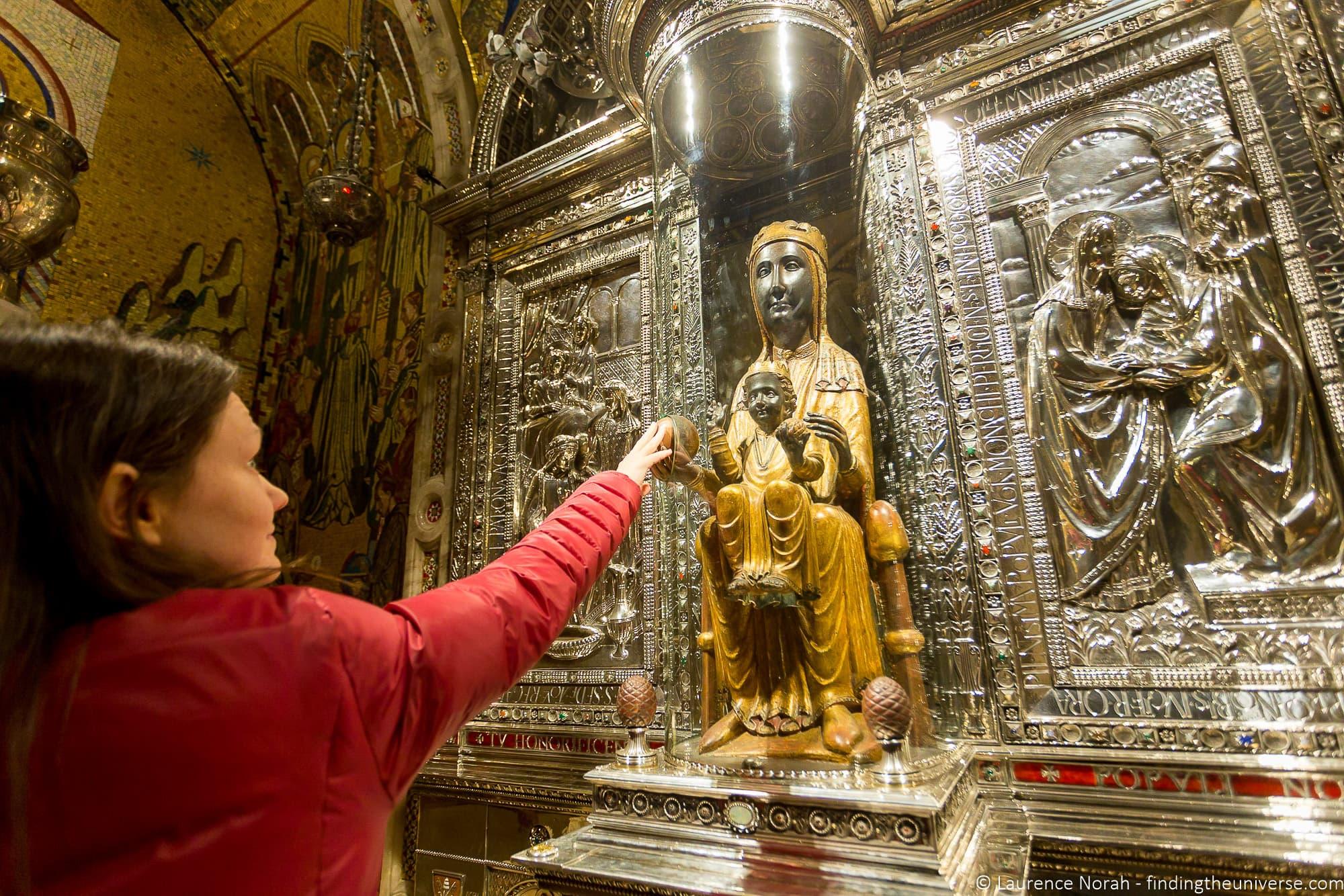 Virgin of Montserrat statue