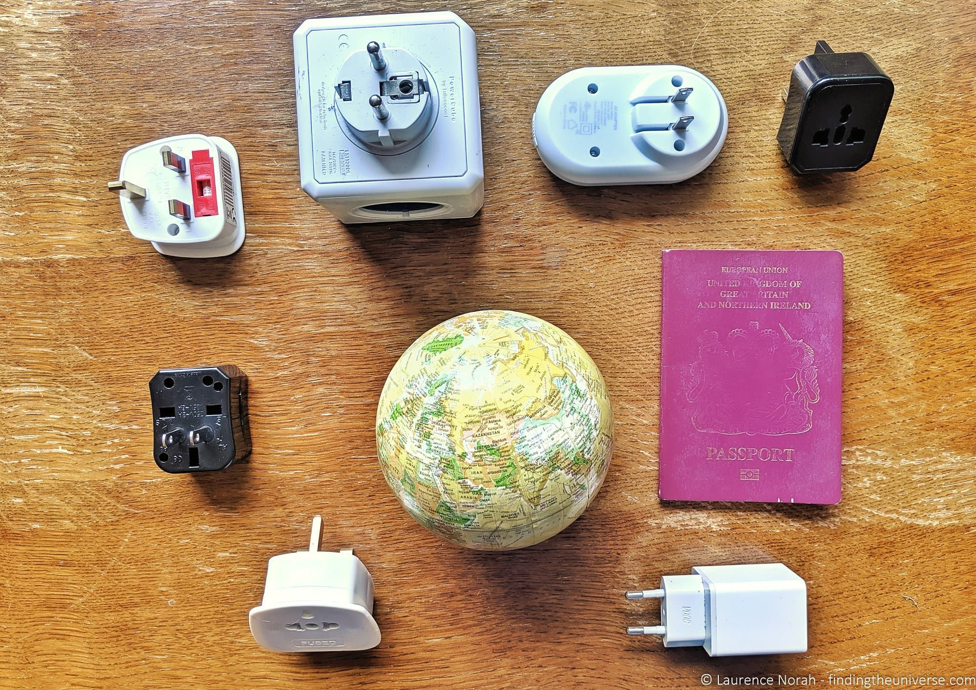 2x South African Plug Adaptor Africa to UK Travel Adapter 3 Pins Plug Power