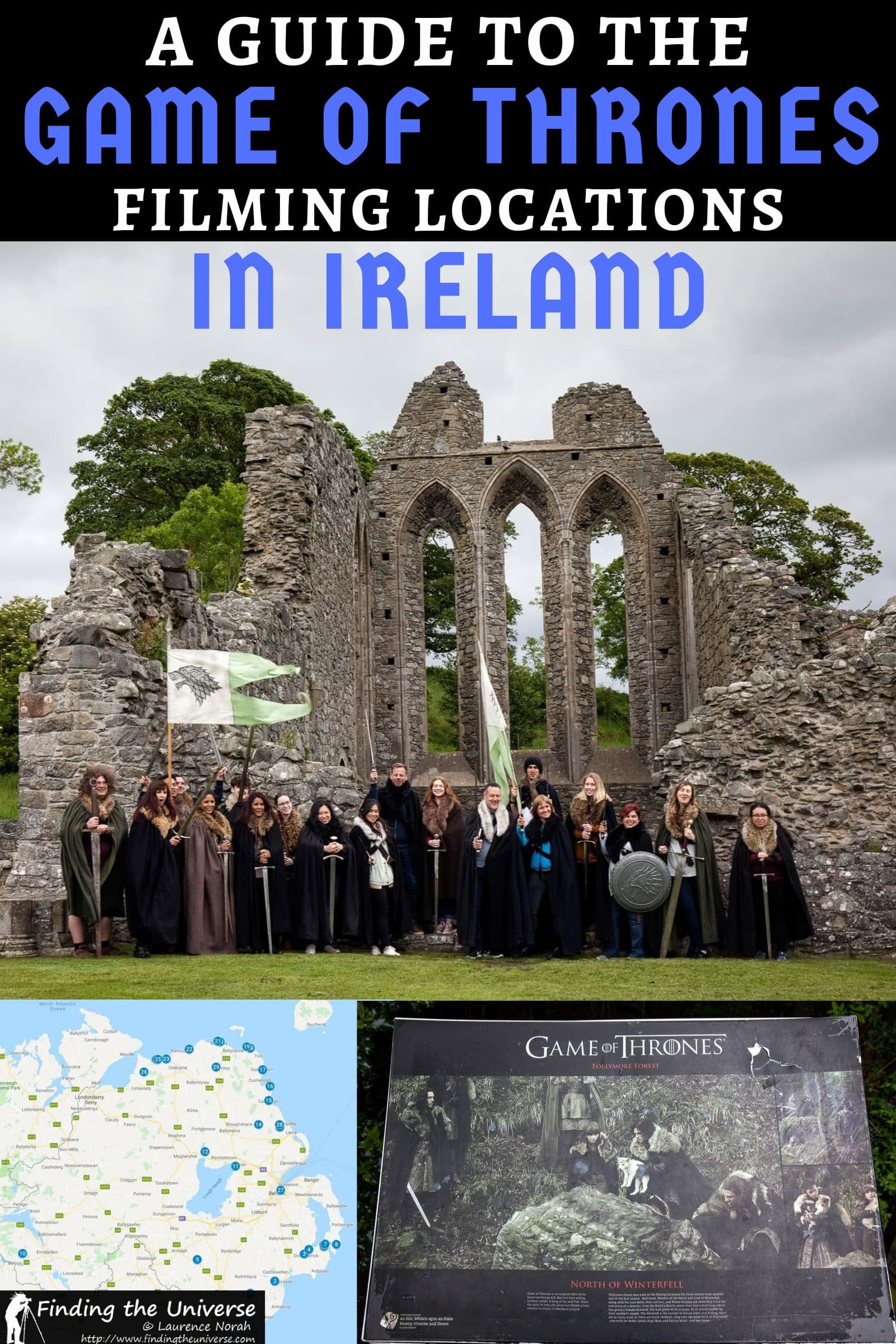 Detailed guide and map of all the Game of Thrones filming location in Ireland. Includes filming locations in Northern Ireland + suggested tours, tips & map