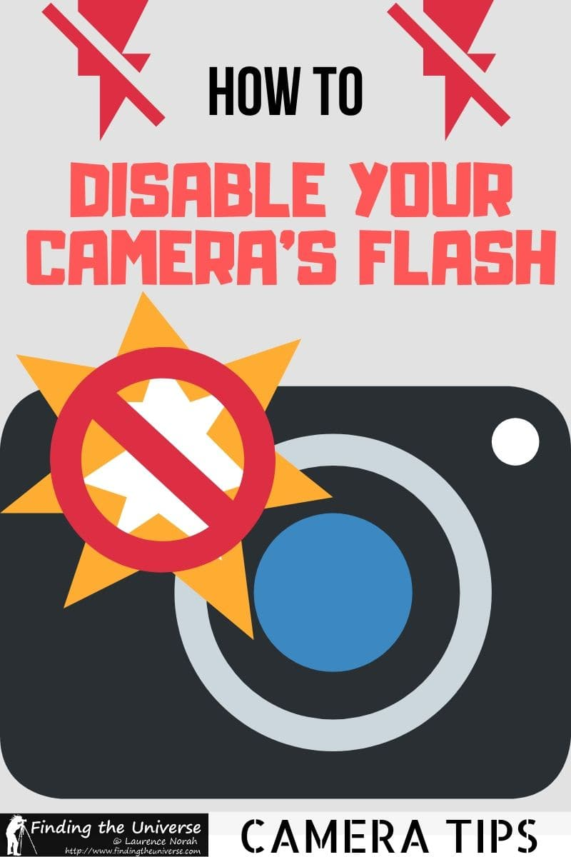 How to Disable your Camera Flash