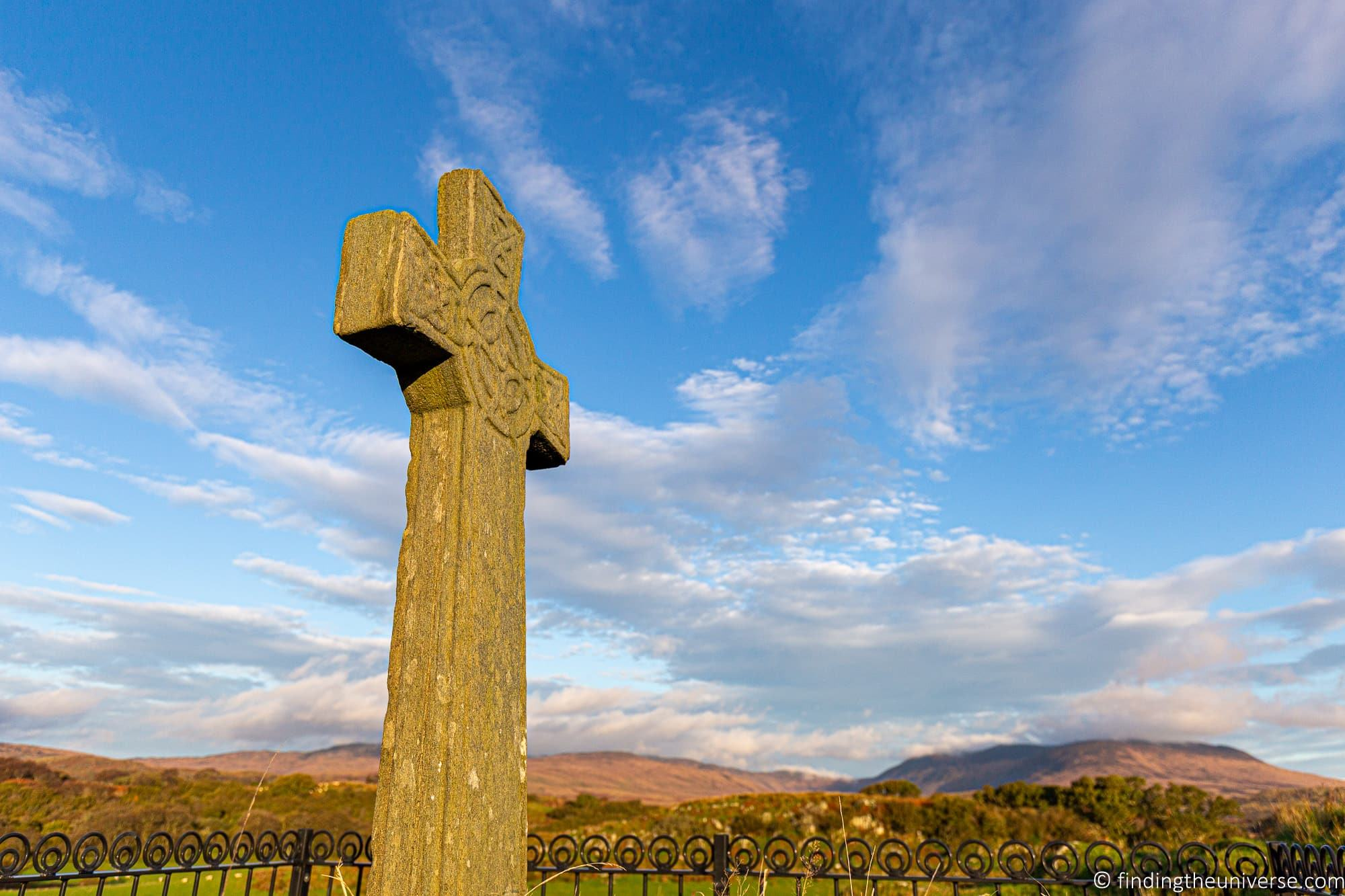 Kildalton High Cross and church Islay