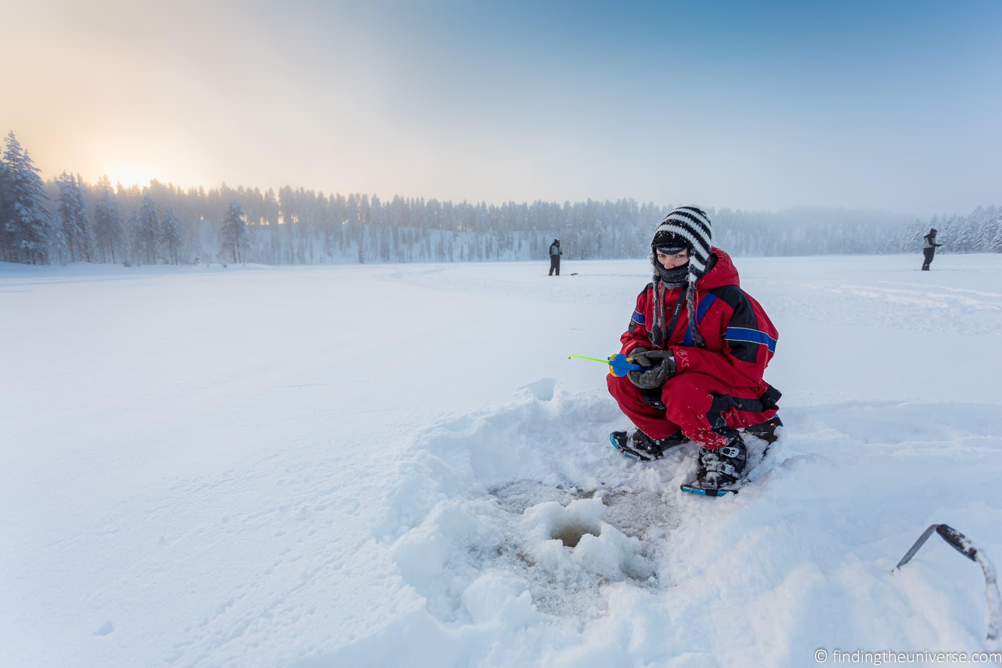 Ice fishing FInland