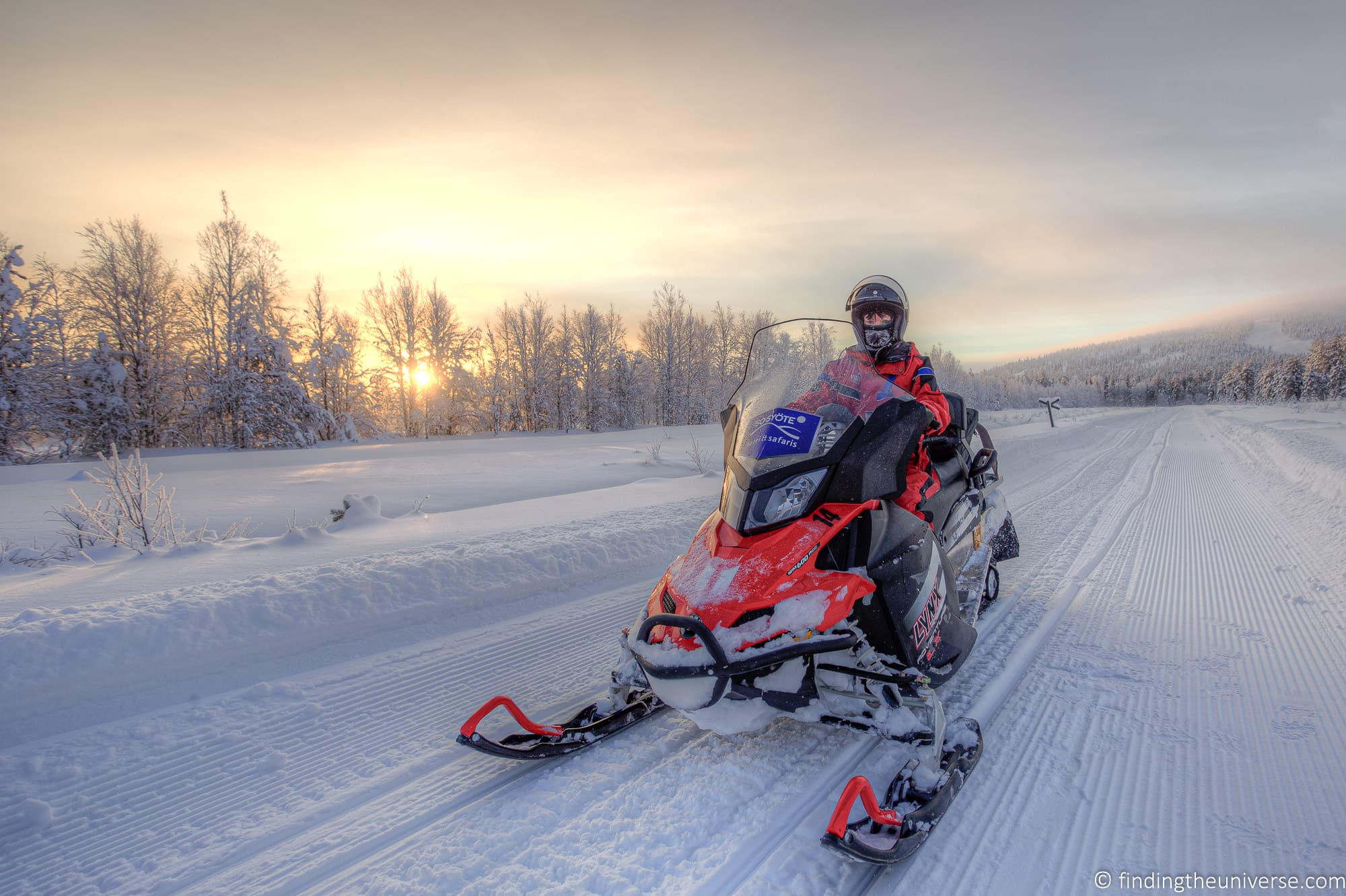 Snowmobiling Finland