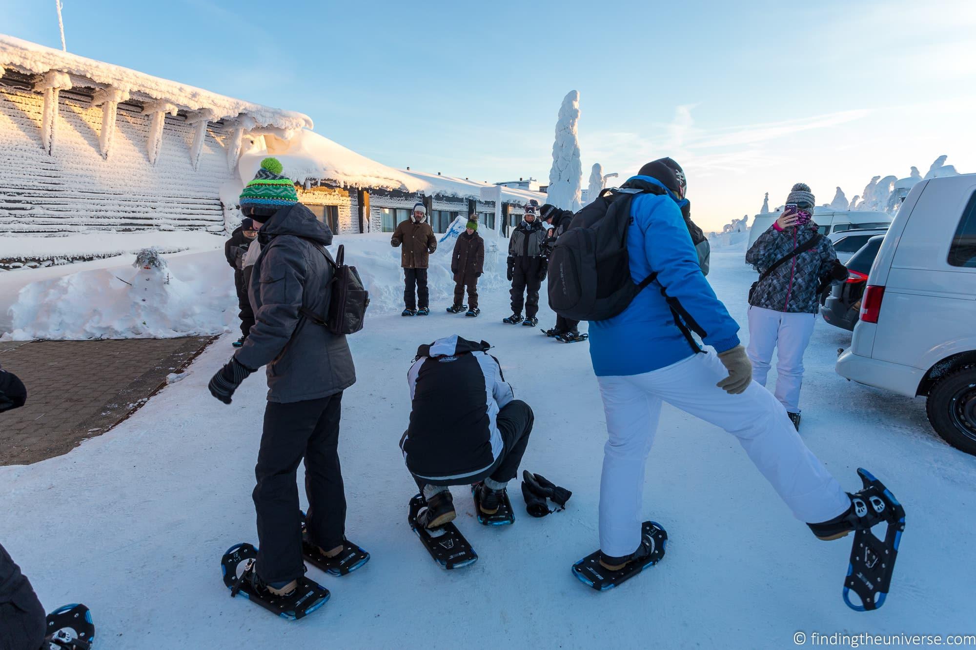 Snowshoeing Finland