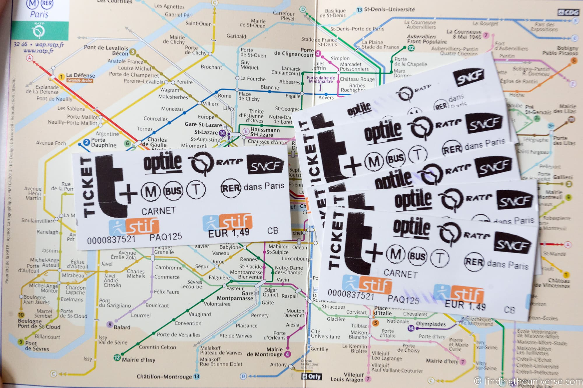 RATP cards Paris