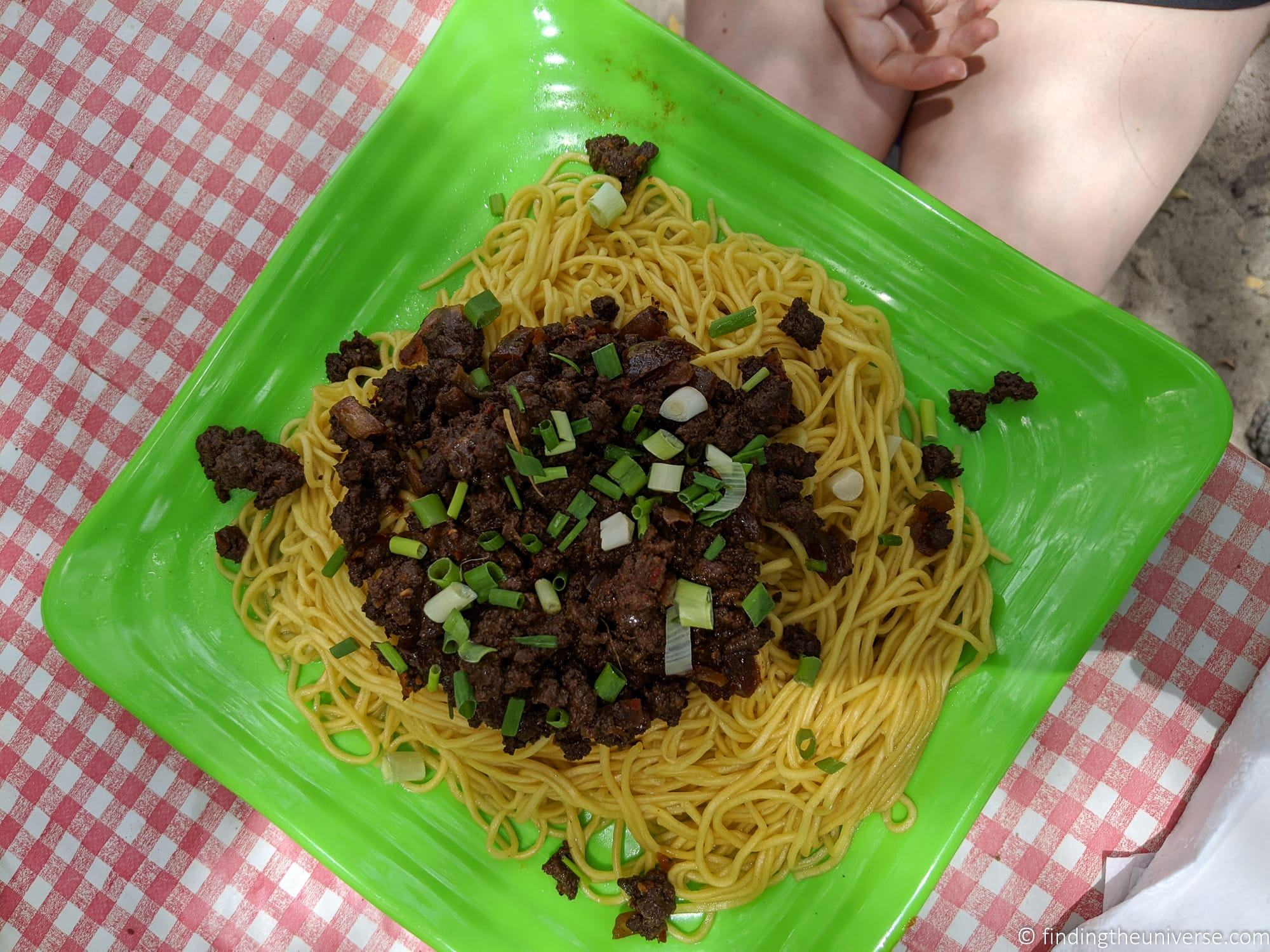 Fried Noodles and beef Mauritius