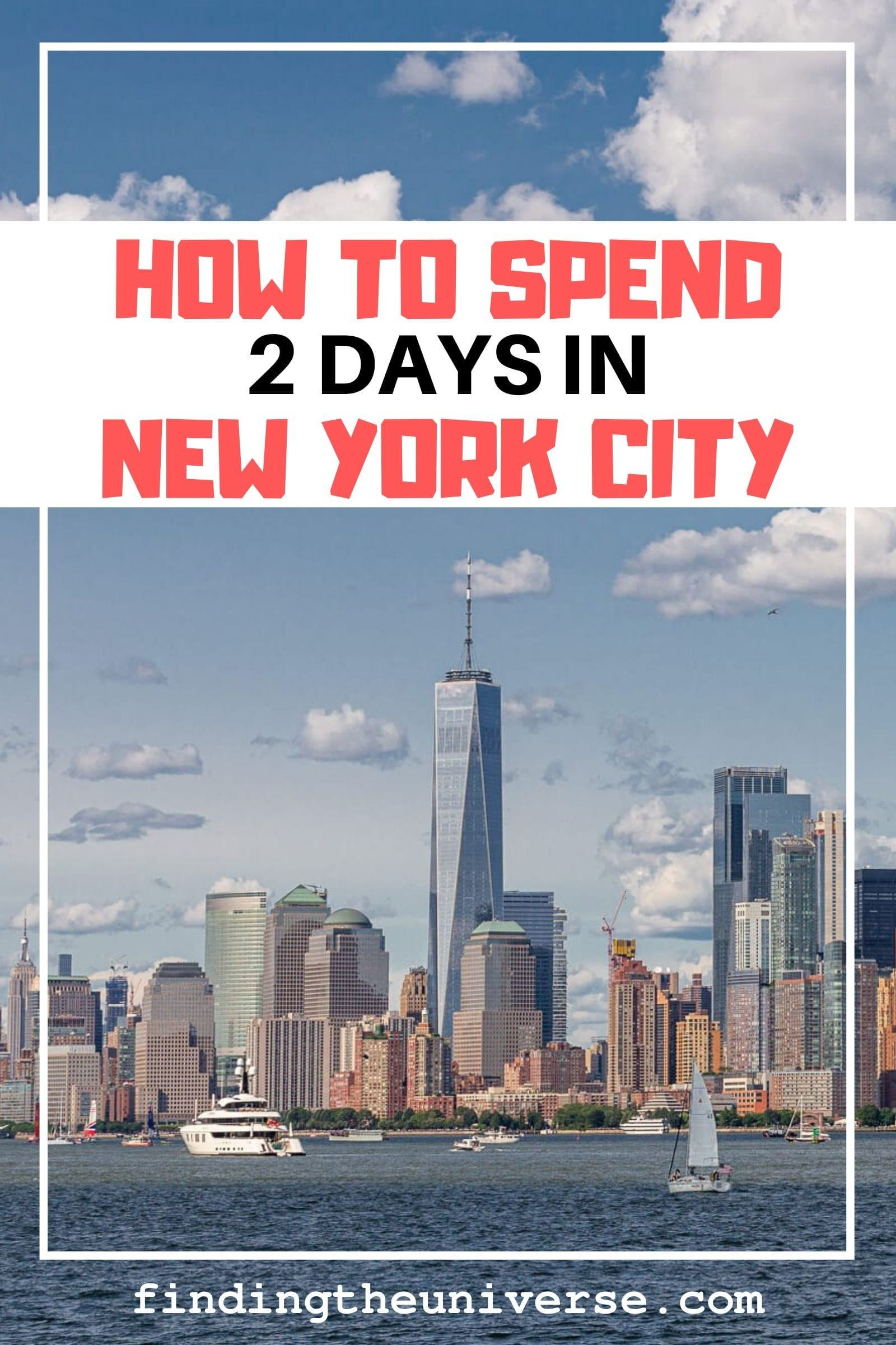 Detailed itinerary for 2 days in New York. Includes what to see in New York over 2 days, plus tips on getting around, accommodation and saving money!