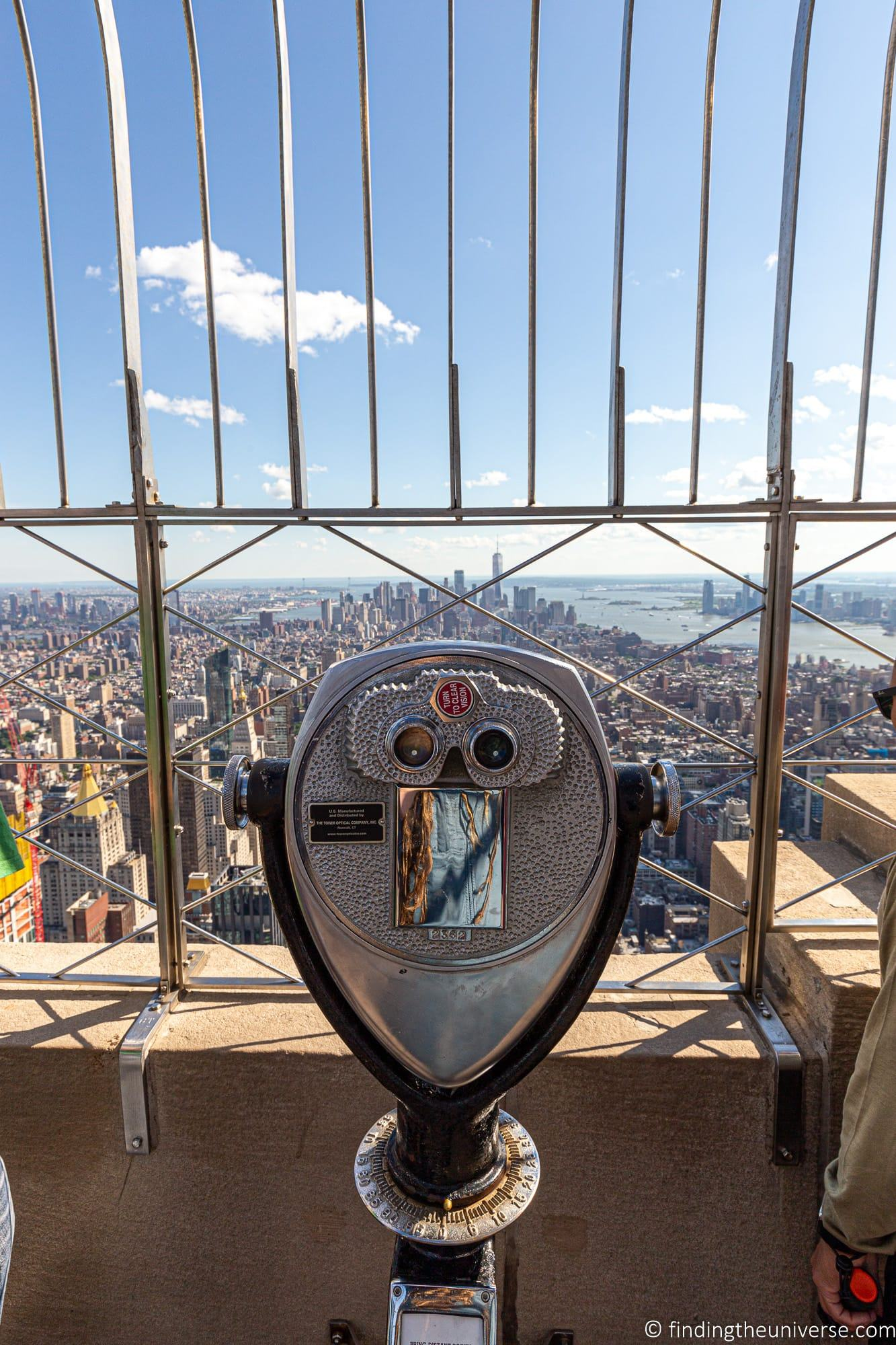 Empire State Building Observation Deck Views New York