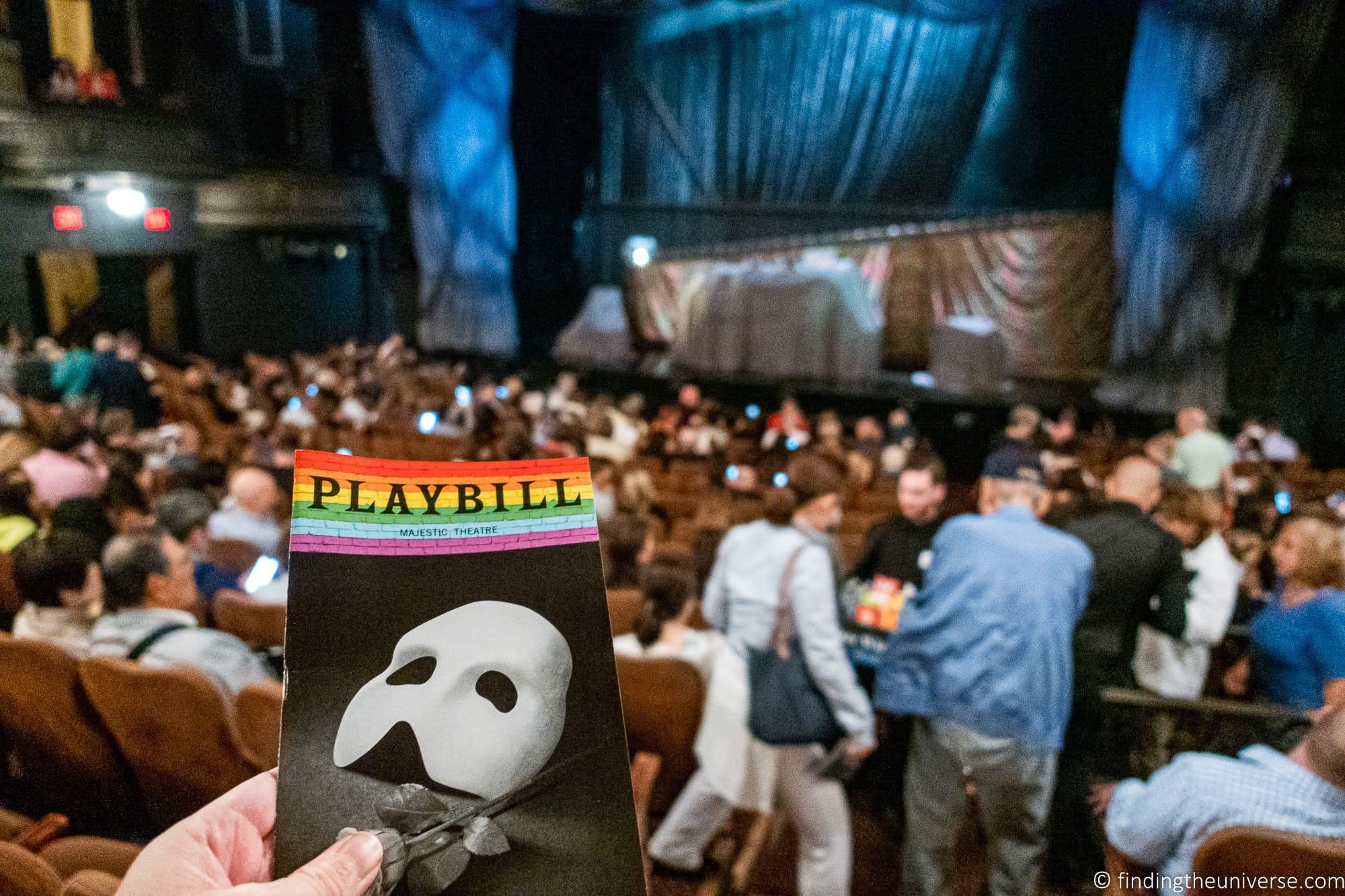 Phantom of the Opera Broadway Stage Show New York