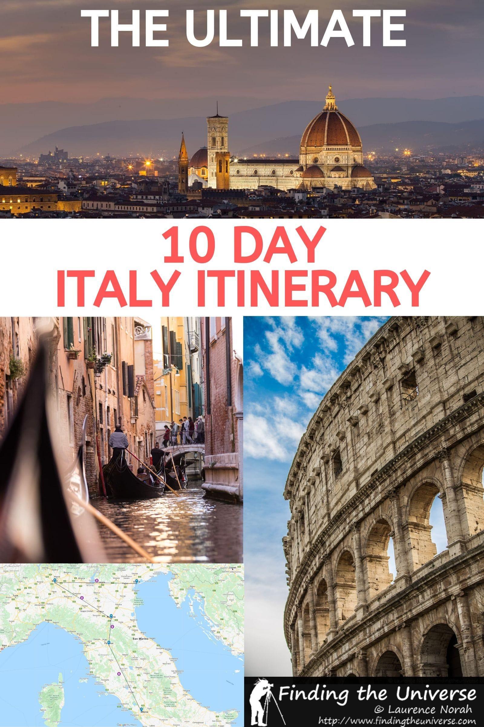 A detailed 10 day Italy Itinerary, with day by day instructions for every destination, information on getting around Italy, accommodation tips + lots more!