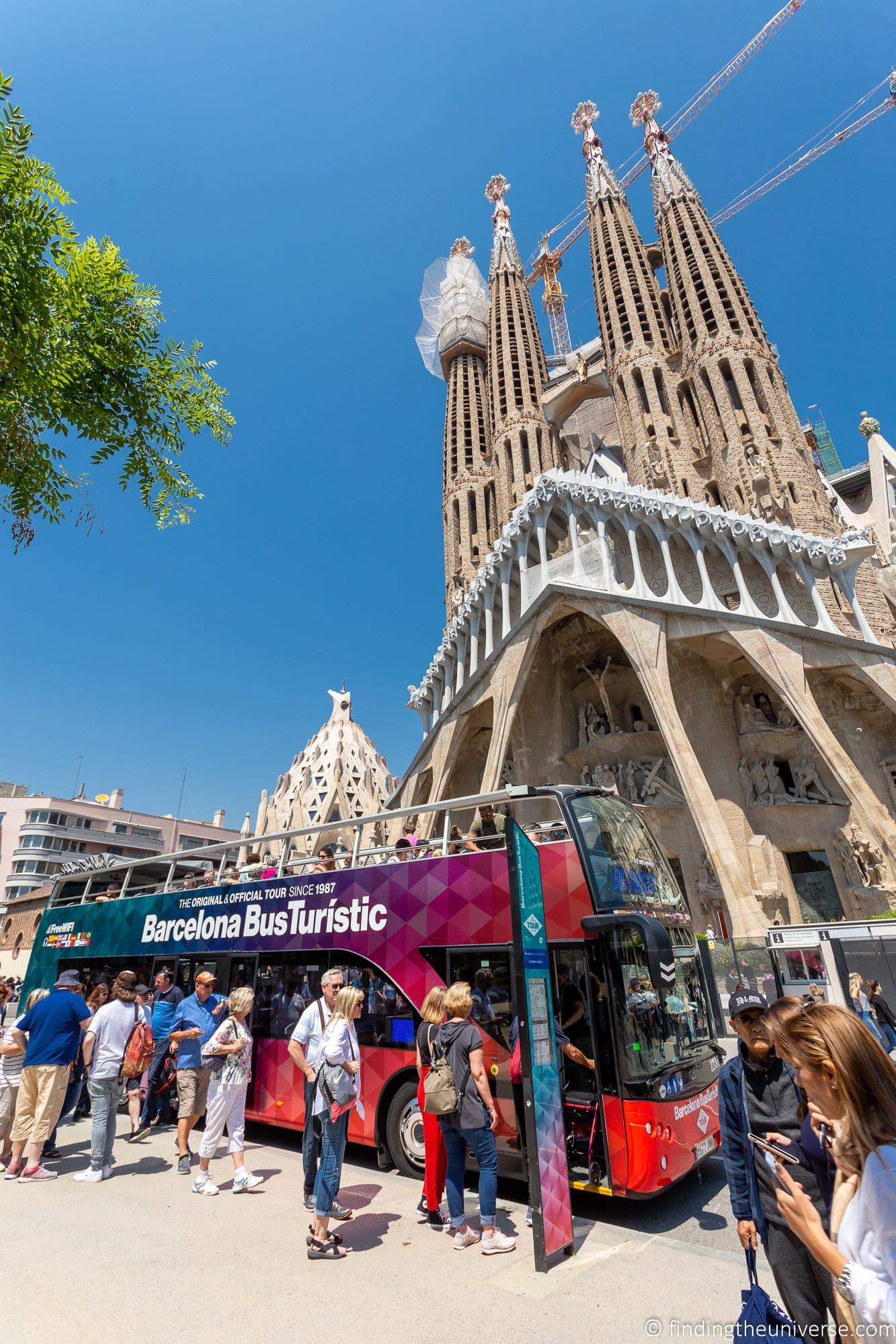 Sagrada Familia Barcelona Bus Turistic Stop