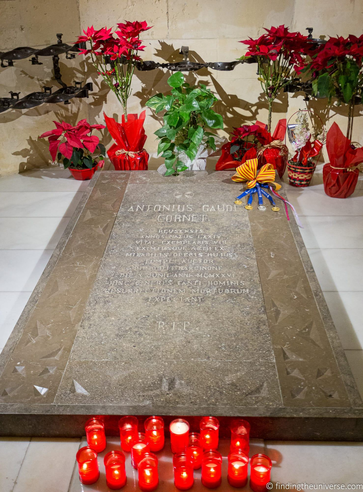 Sagrada Familia tomb of Antoni Gaudi