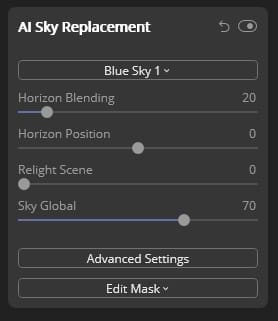 Sky replacement tutorial Step 4a