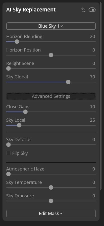 Sky replacement tutorial Step 5a