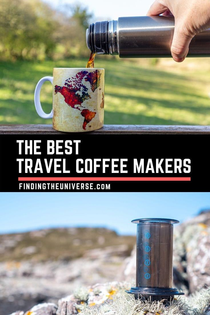 A guide to the best travel coffee makers. Includes options across all budgets, as well as types of coffee, from drip coffee to portable espresso makers