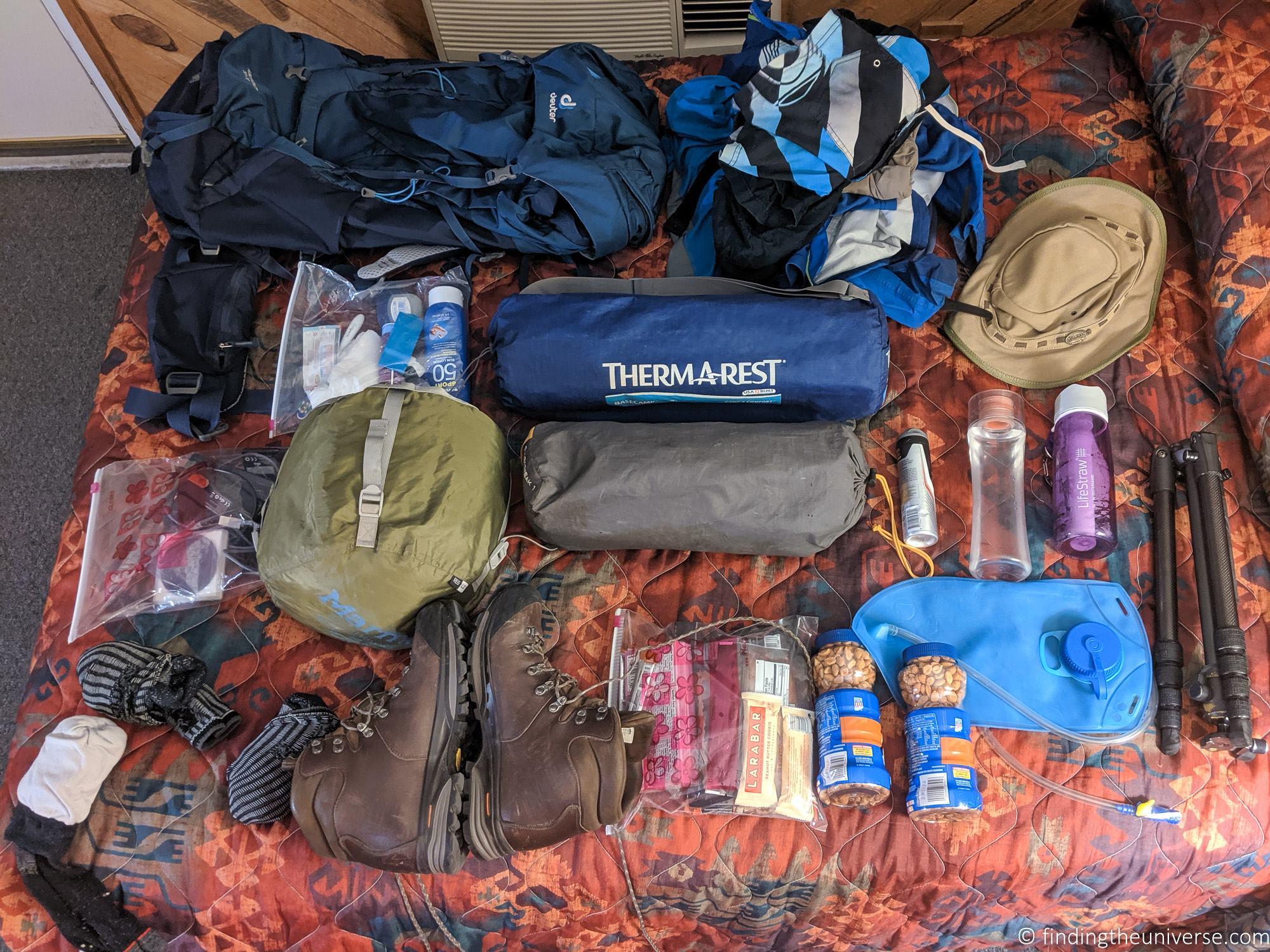 Gear for Havasu Falls hike