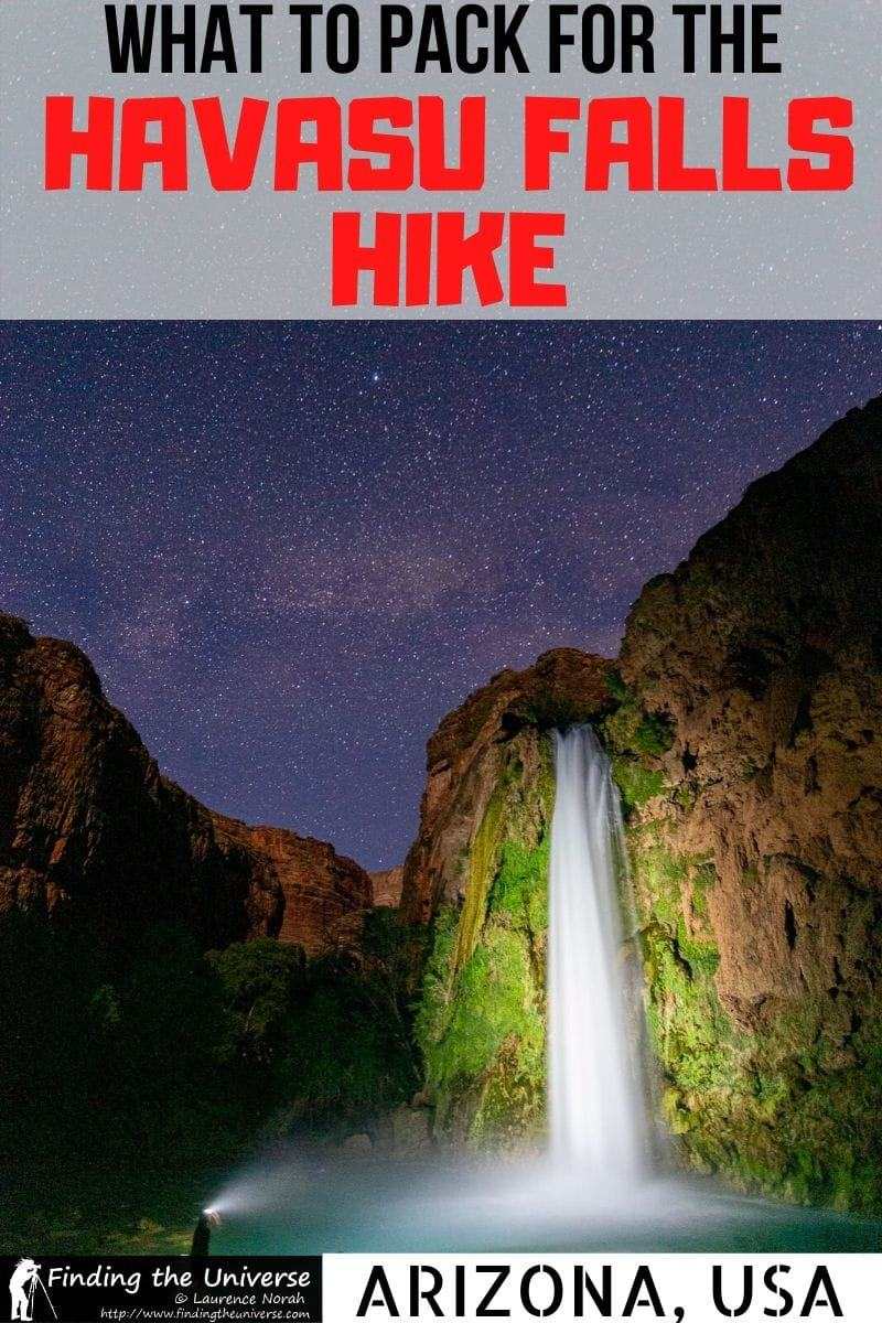 A detailed guide to what to pack for Havasu Falls. This detailed Havasu packing list has everything you need to bring, whatever time of year you visit!