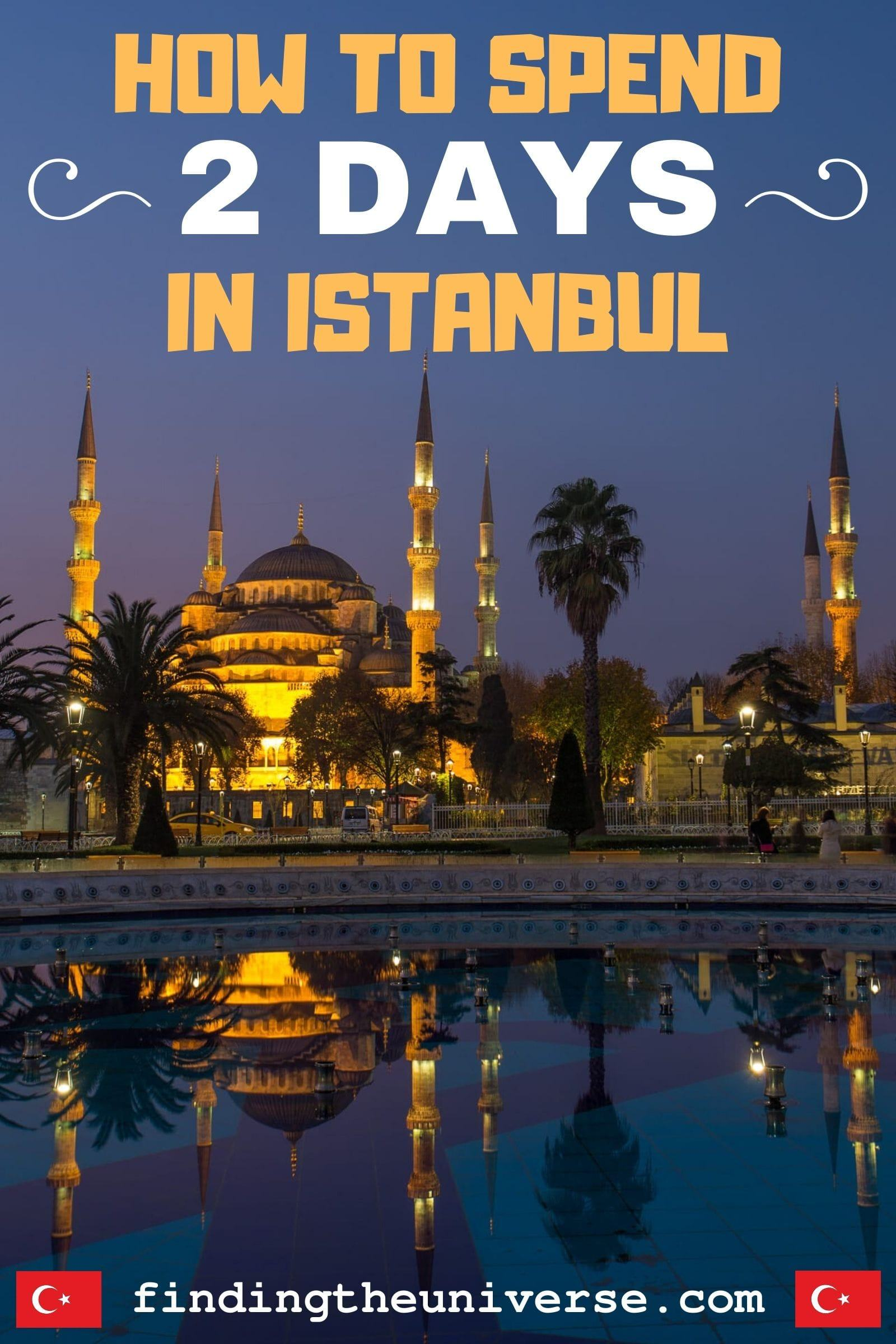A detailed guide to spending 2 days in Istanbul. Contains a complete 2 day Istanbul itinerary, as well as a map and tips for your visit