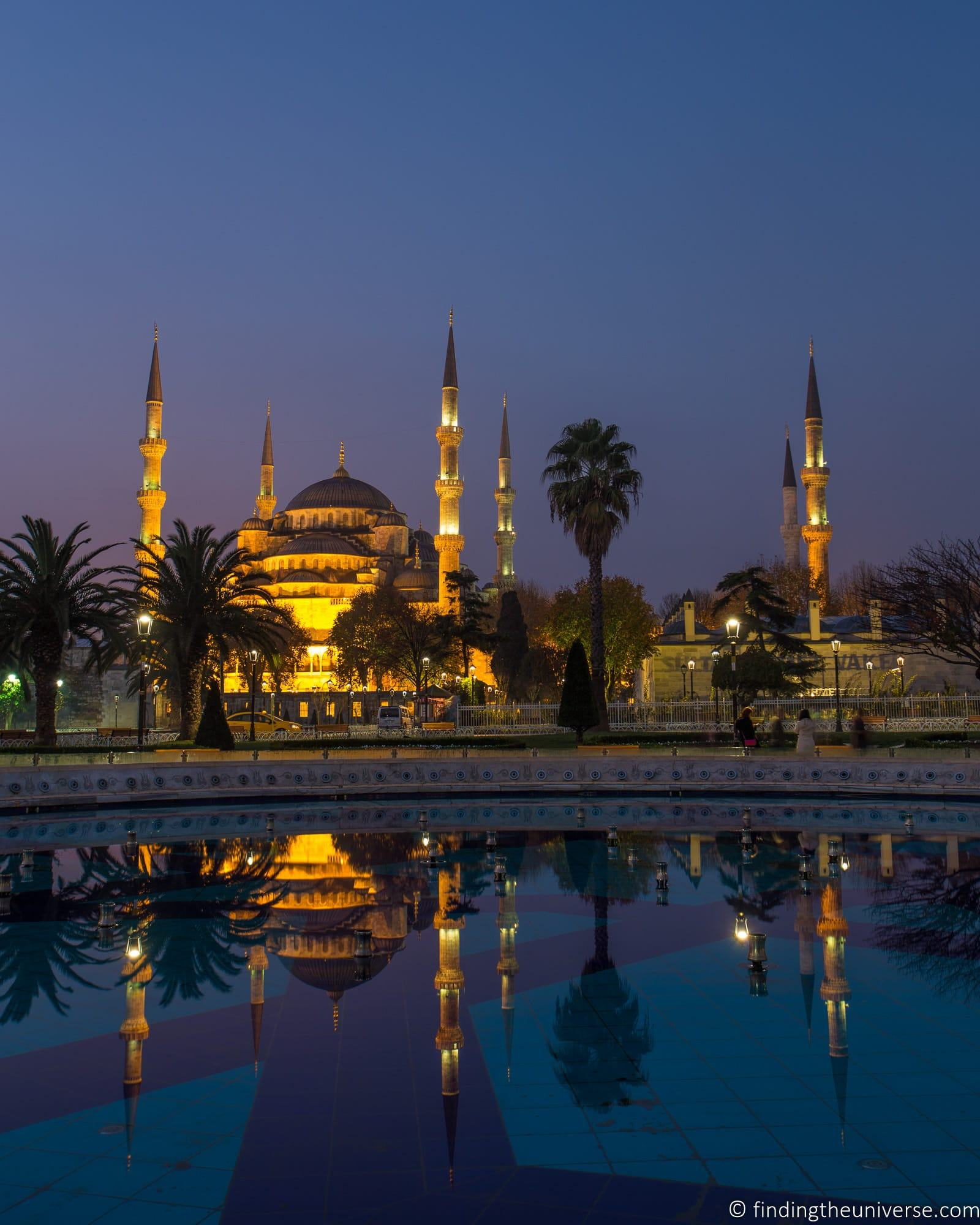 Blue Mosque reflection Istanbul Turkey