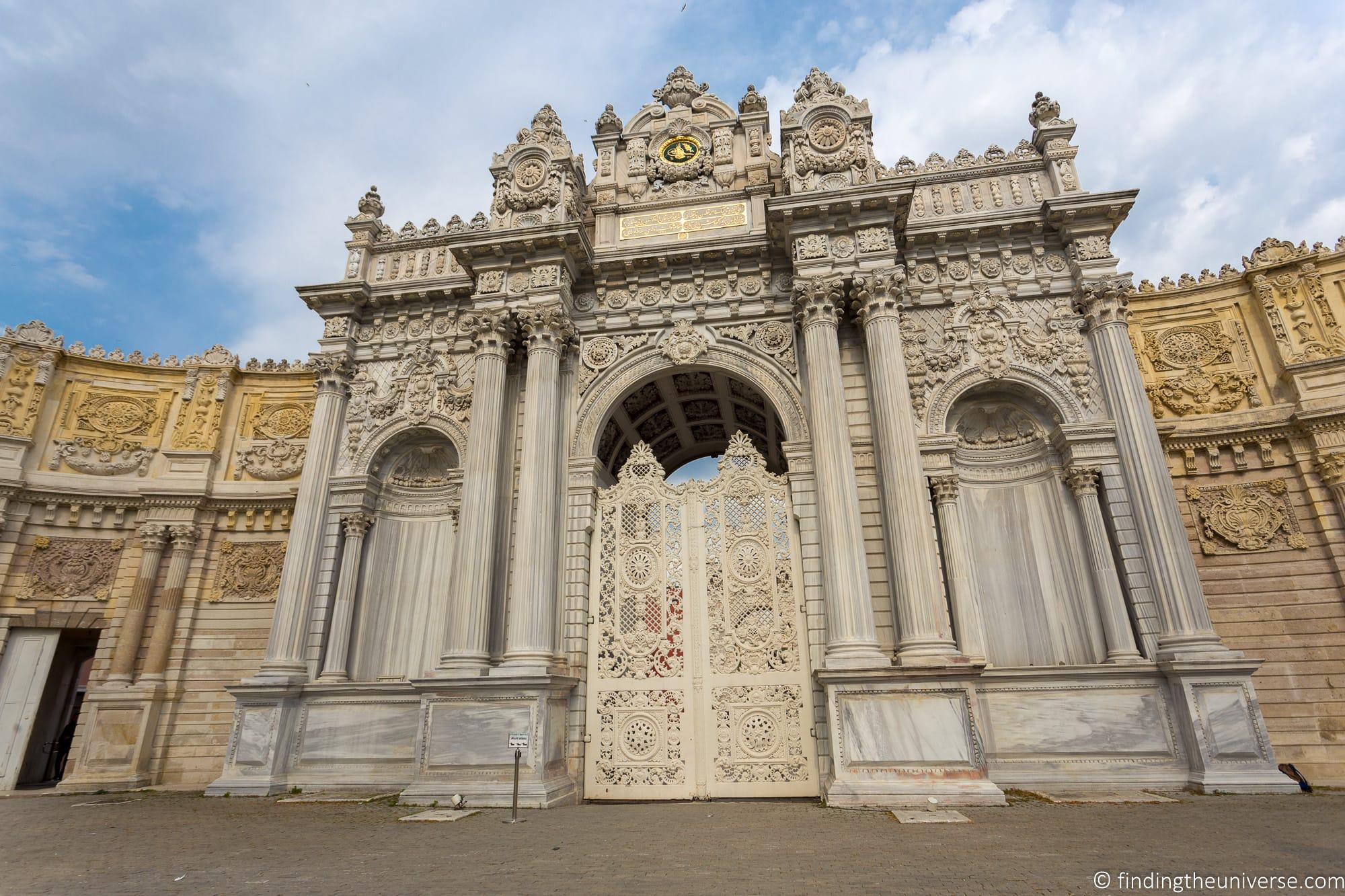 Dolmabahçe Palace entrance Istanbul