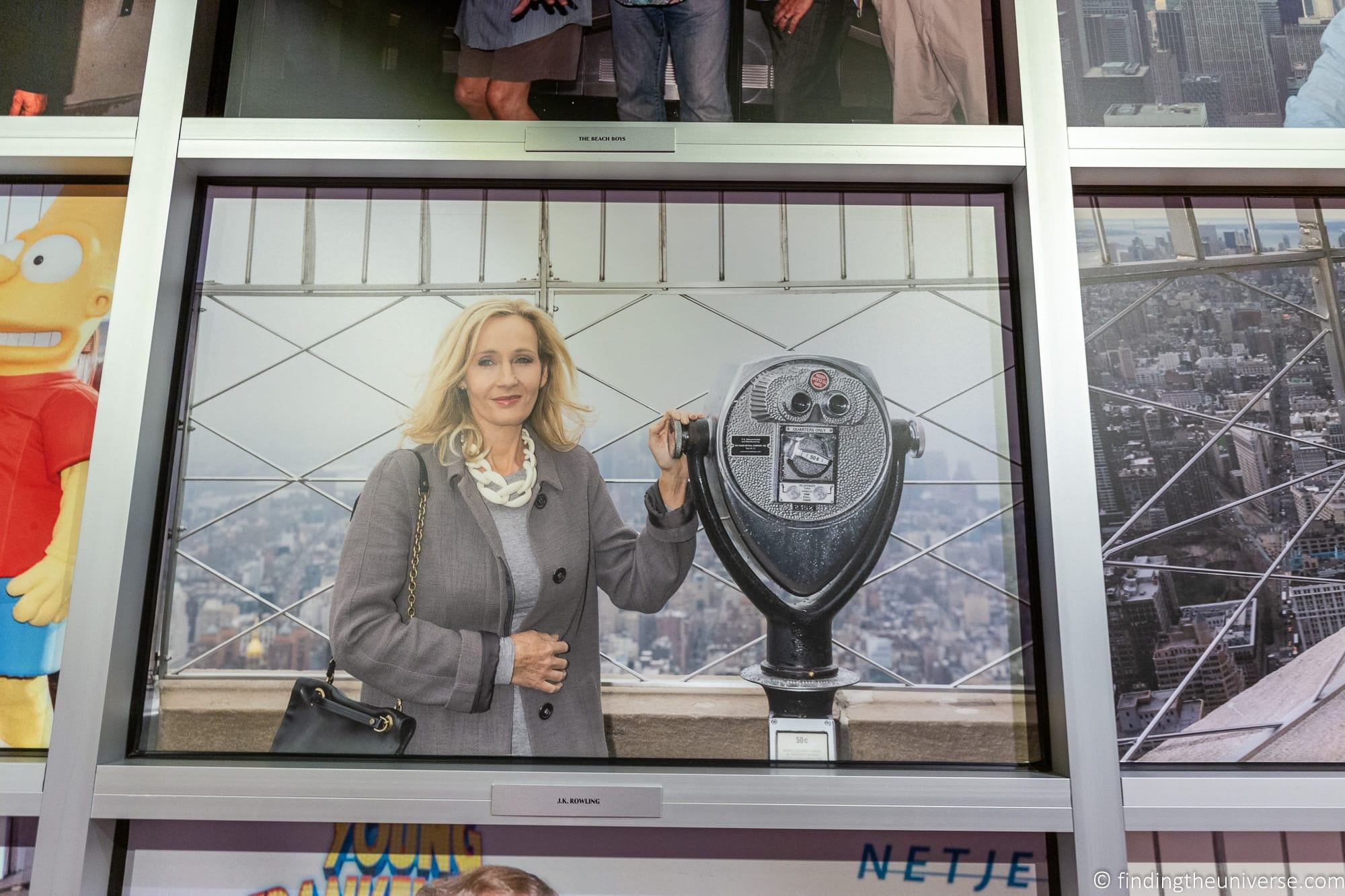 JK Rowling at Empire State Building