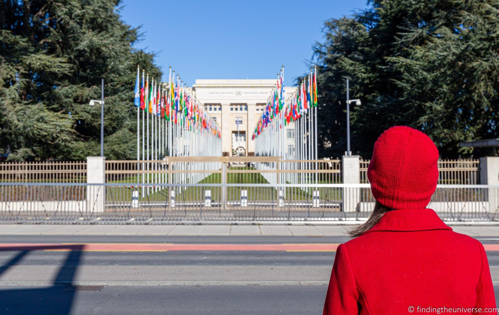 UN Flags Geneva