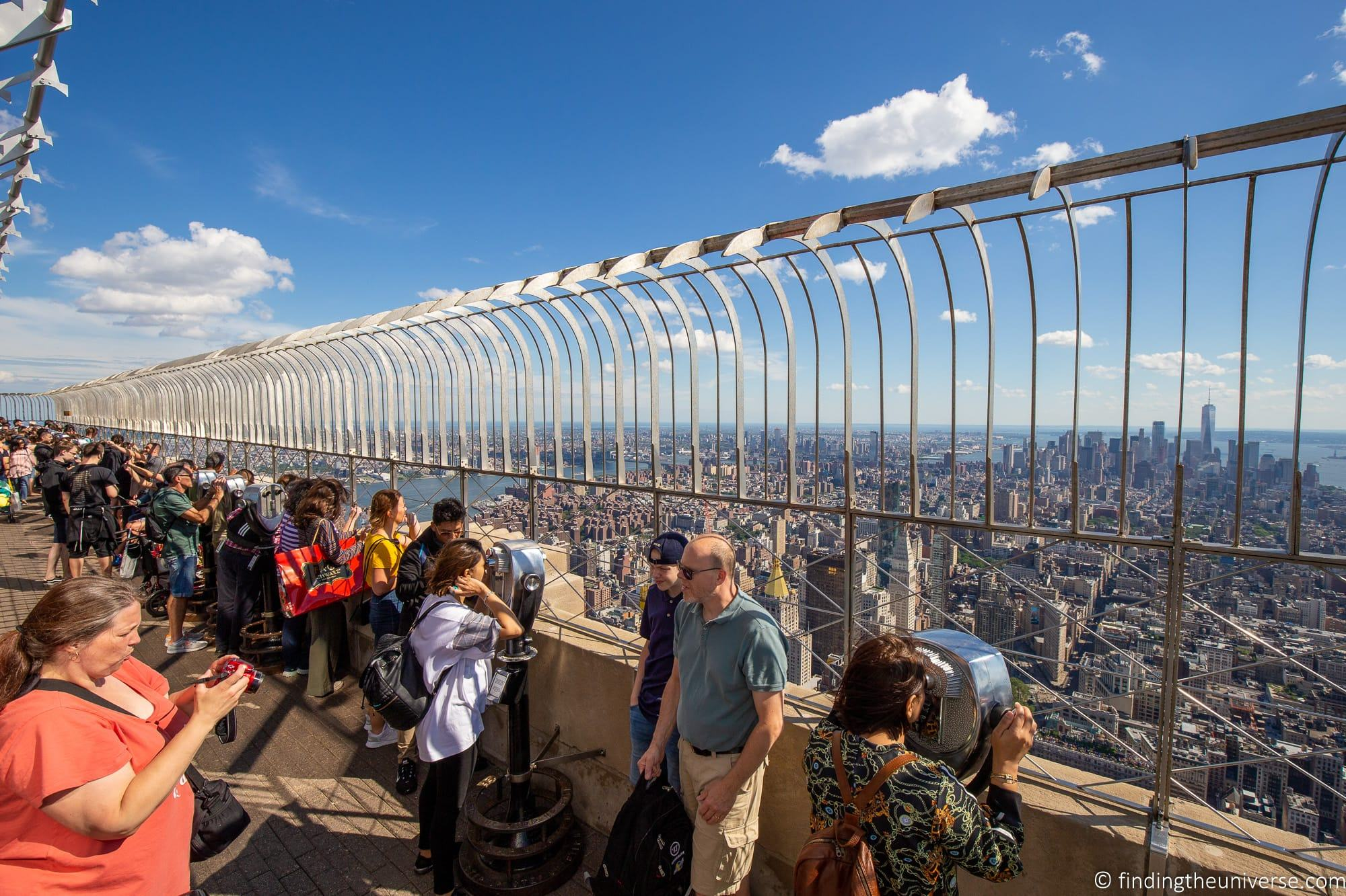 outdoor observation deck empire state building
