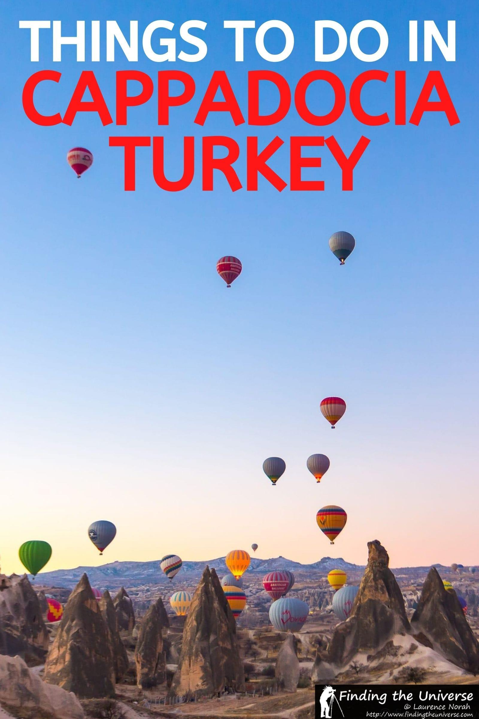 A detailed guide to things to do in Cappadocia Turkey. Everything from underground cities to hot air ballooning, plus tips for your visit!