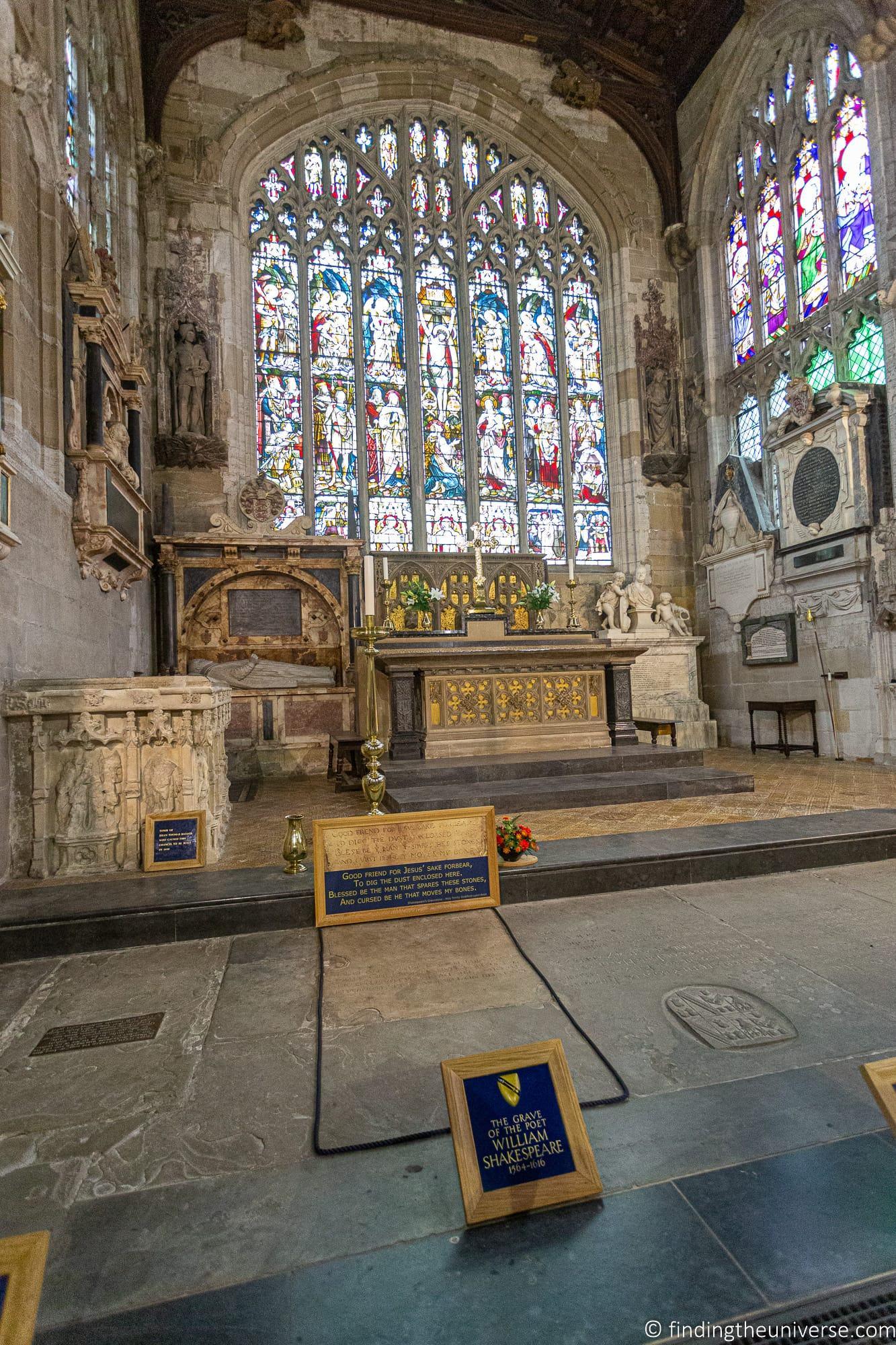Shakespeare's Grave Holy Trinity Church Stratford-Upon-Avon