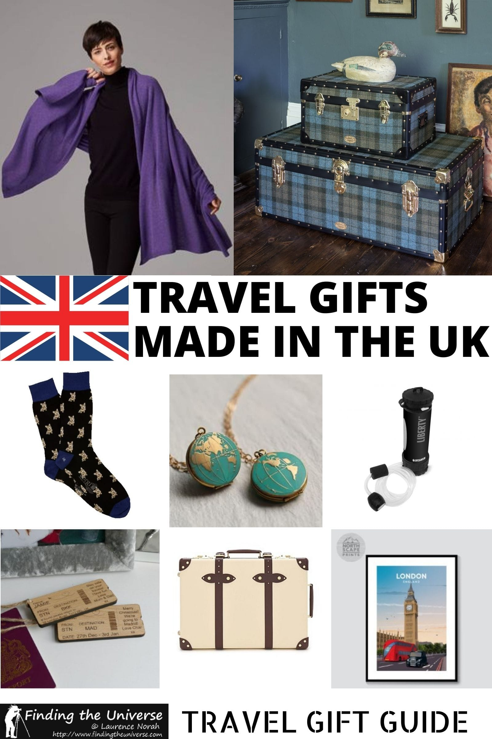 Looking for gifts made in Britain for a travel lover? This guide has some of the best gifts made in the UK at a range of budgets!