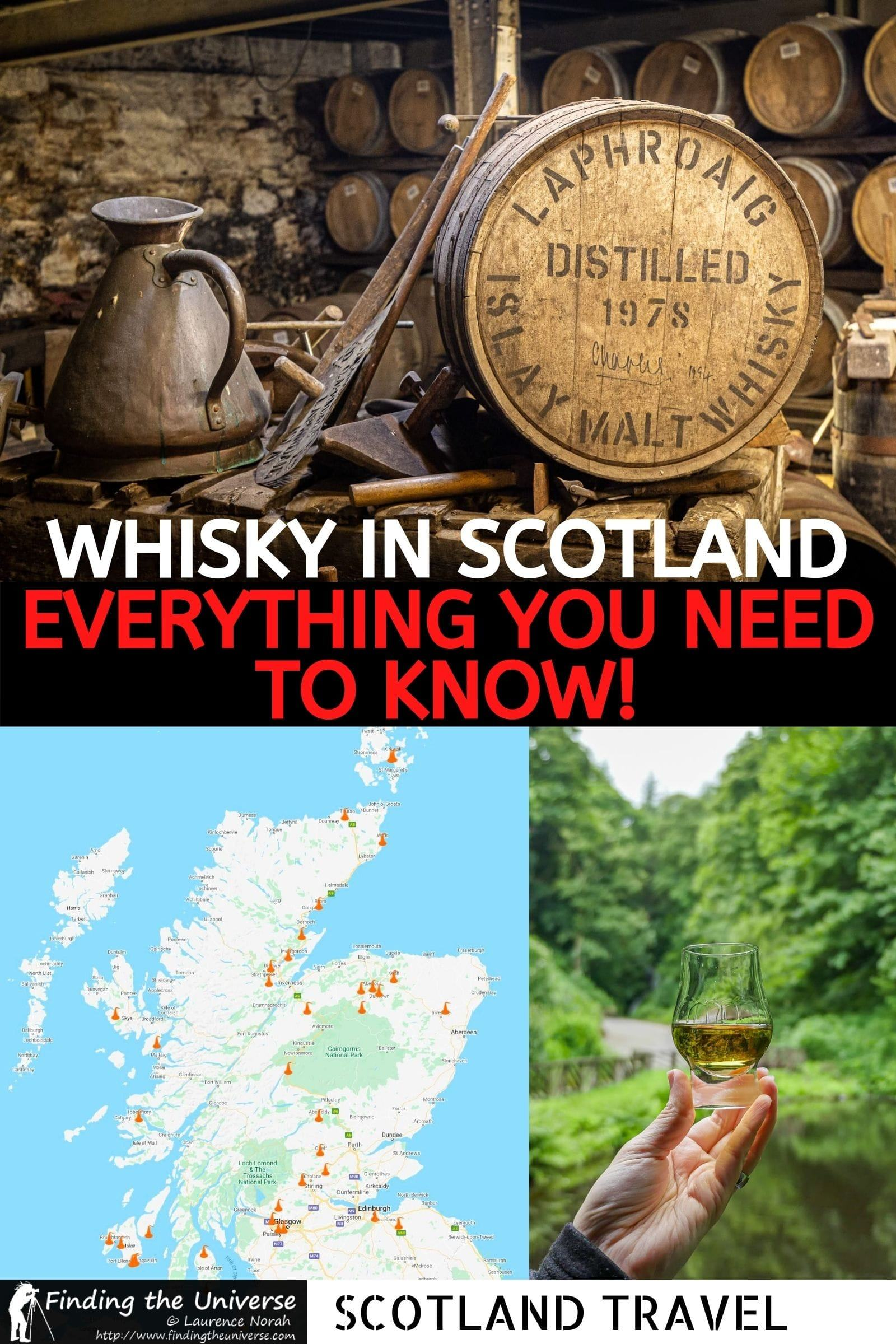 A detailed guide to whisky distilleries in Scotland. How whisky is made, the best whisky distilleries you can visit, and distillery tours.