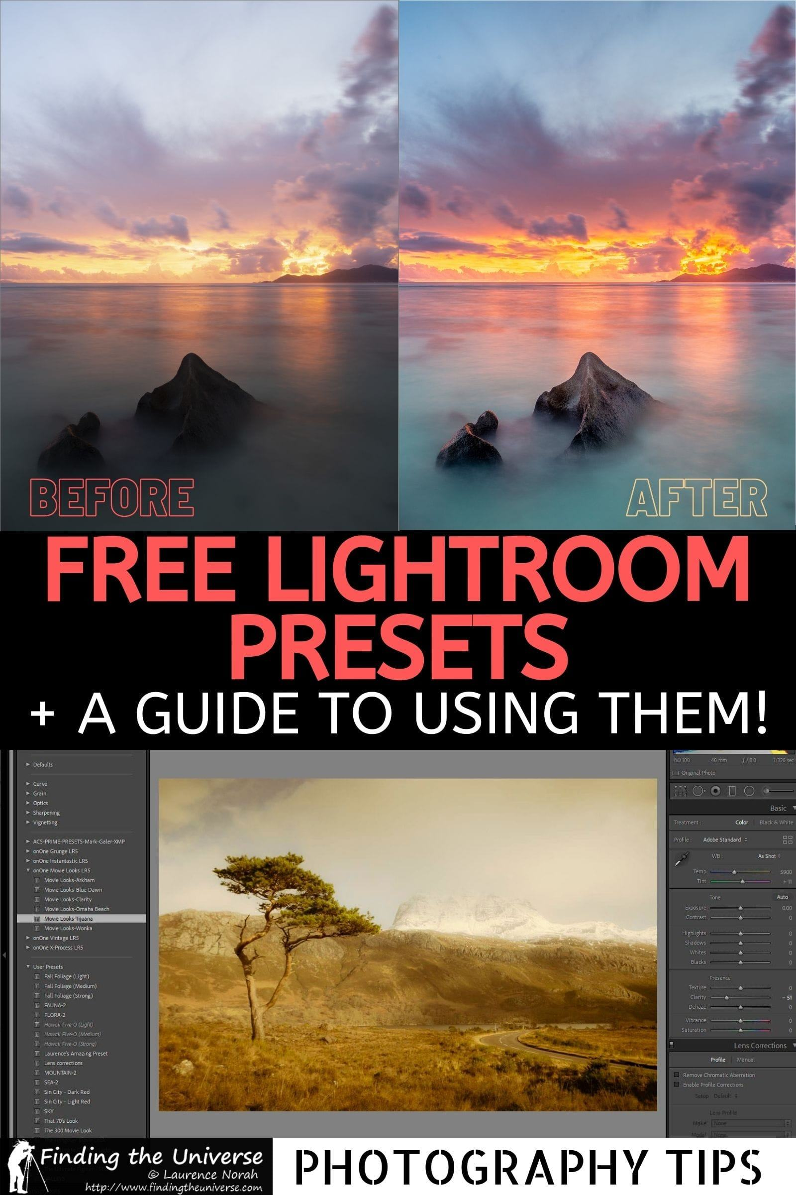 A guide to free Lightroom presets. Where to download free Lightroom presets, how to install and create your own presets, and more!