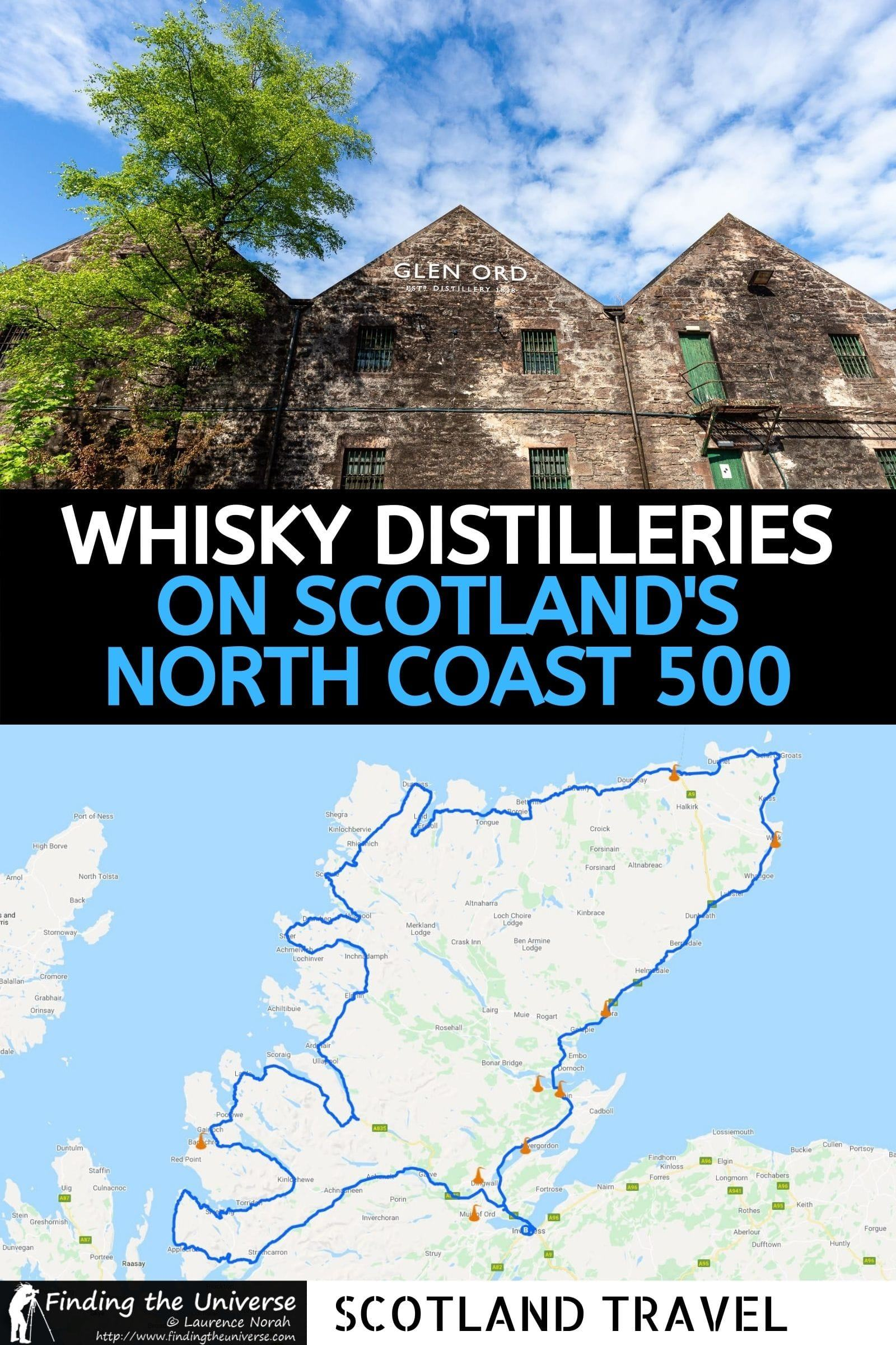 A guide to all the whisky distilleries on the North Coast 500 that you can visit as part of your road trip on this Scottish driving route!