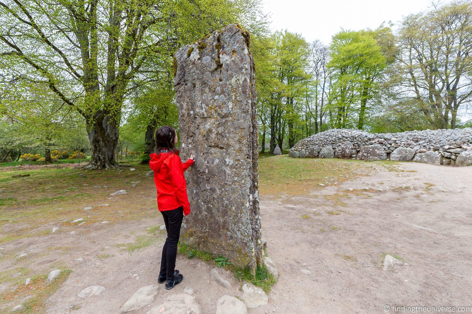 Clava Cairns standing stone outlander