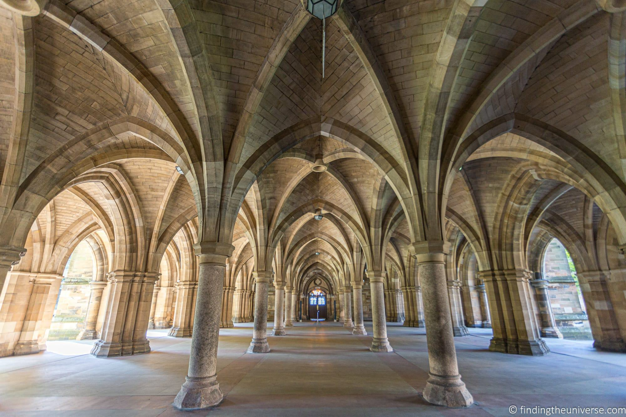 Outlander Filming Location – Glasgow University Cloisters