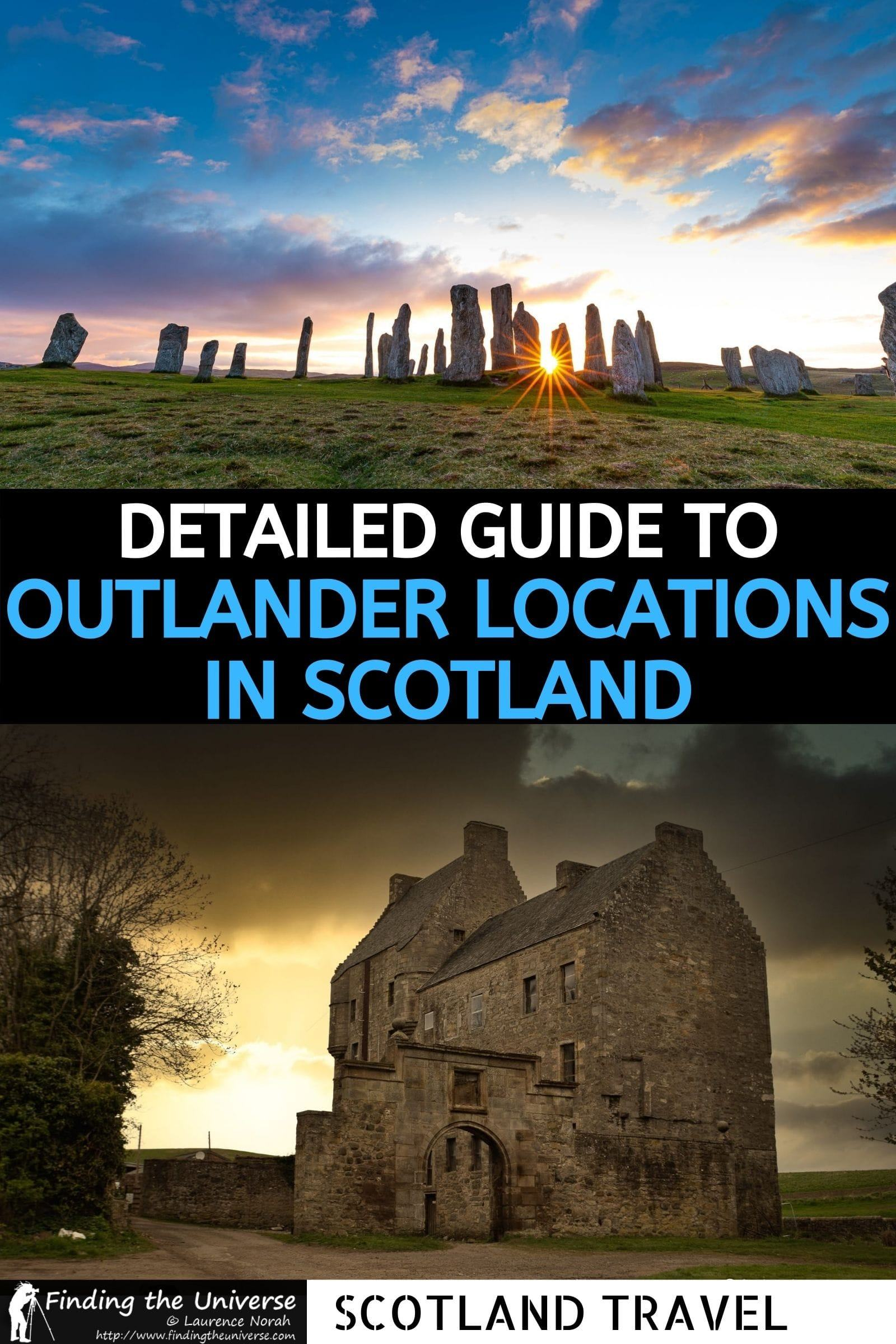 Detailed guide to 40+ Outlander Filming Locations in Scotland. Details of which scenes were filmed where, tips on visiting them + map!