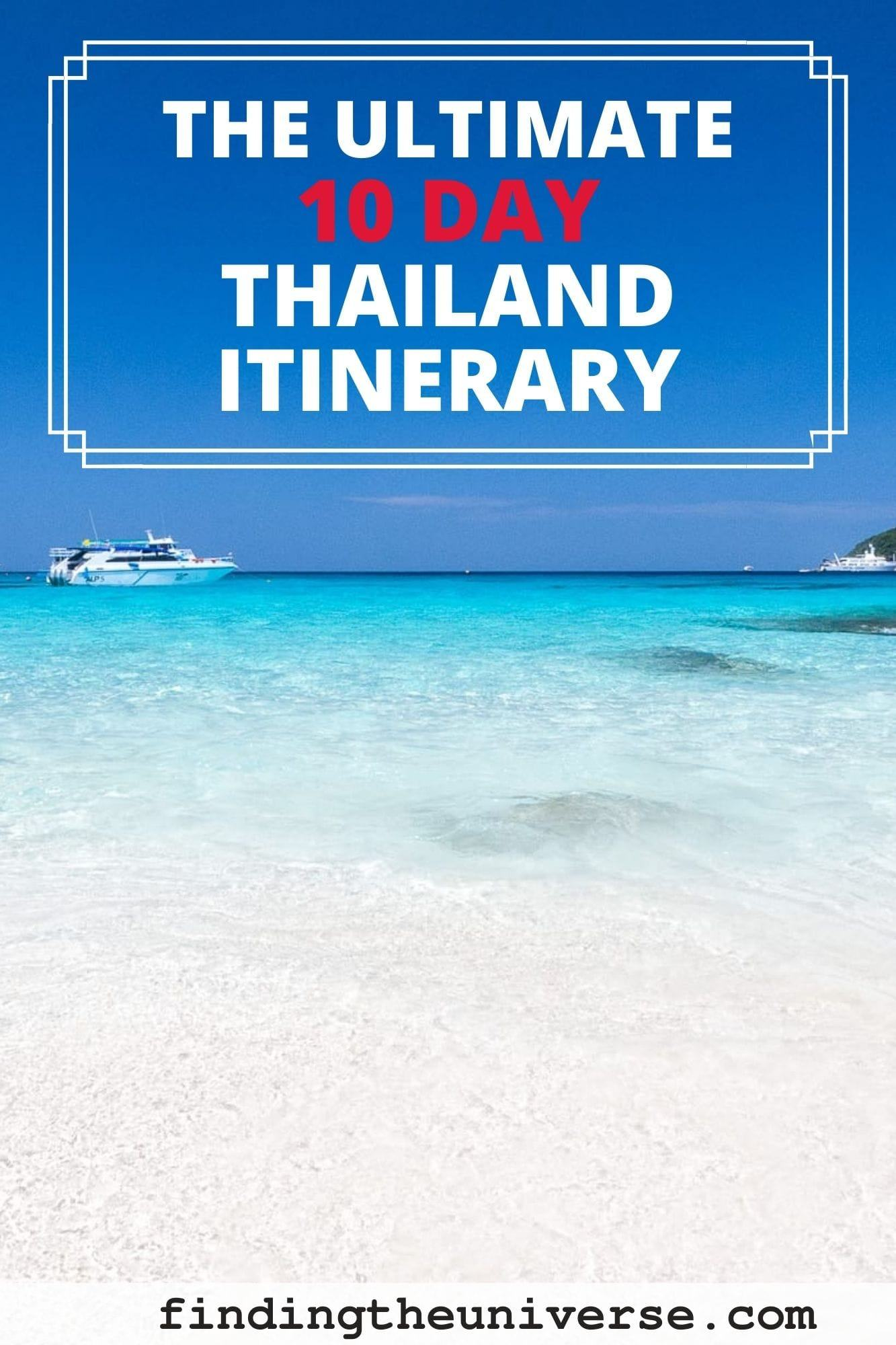 A detailed 10 day Thailand itinerary. Day by day break down of what to see and do, where to go, how to get there and where to stay!