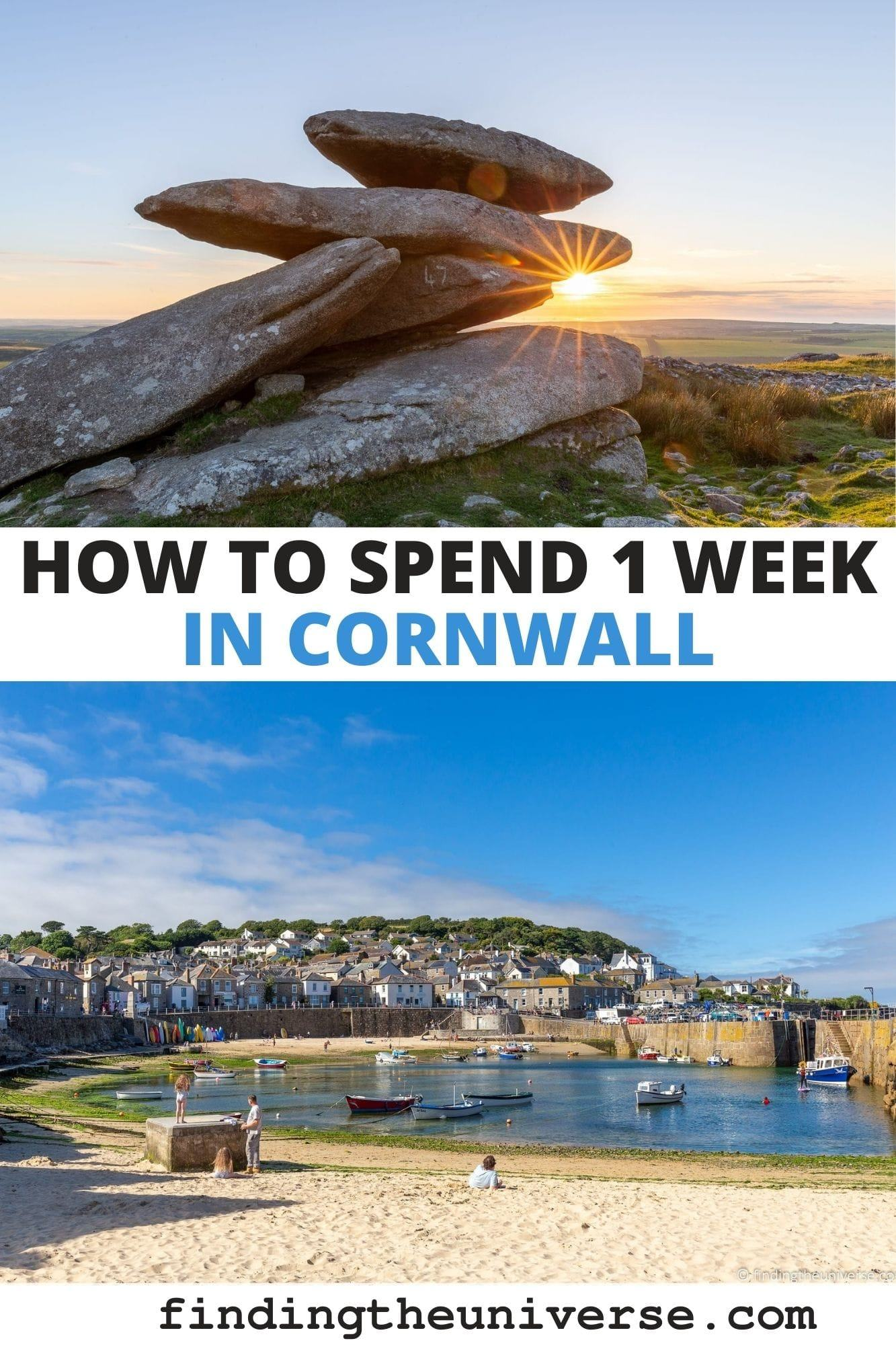A detailed overview of how to spend 1 week in Cornwall. Cornwall itinerary for 1 week, tips on where to stay and how to get around + more!
