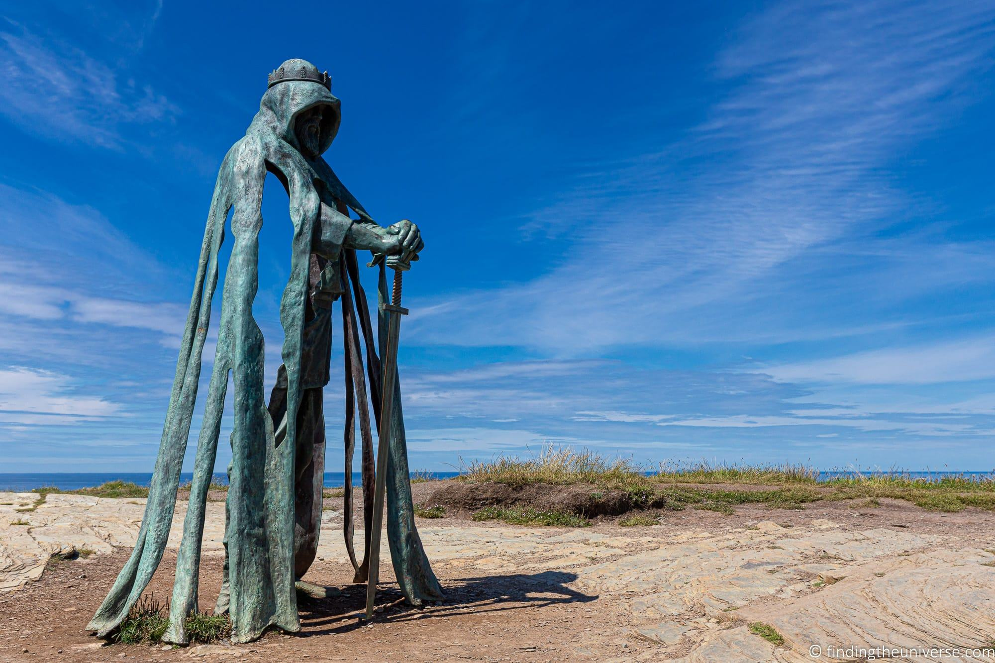 King Arthur Statue Cornwall Tintagel