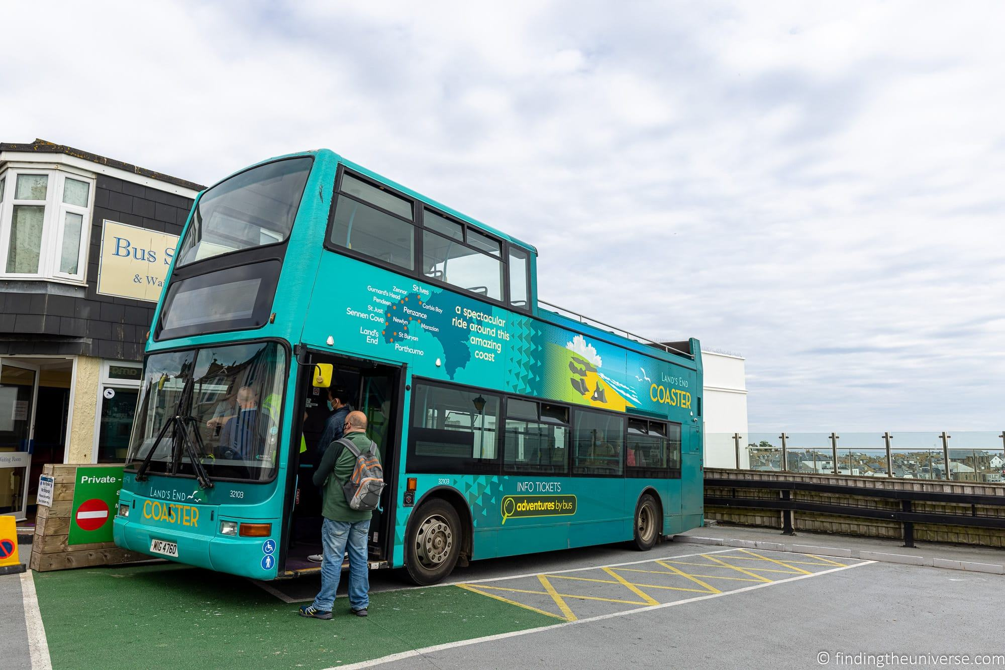 Lands End Coaster bus