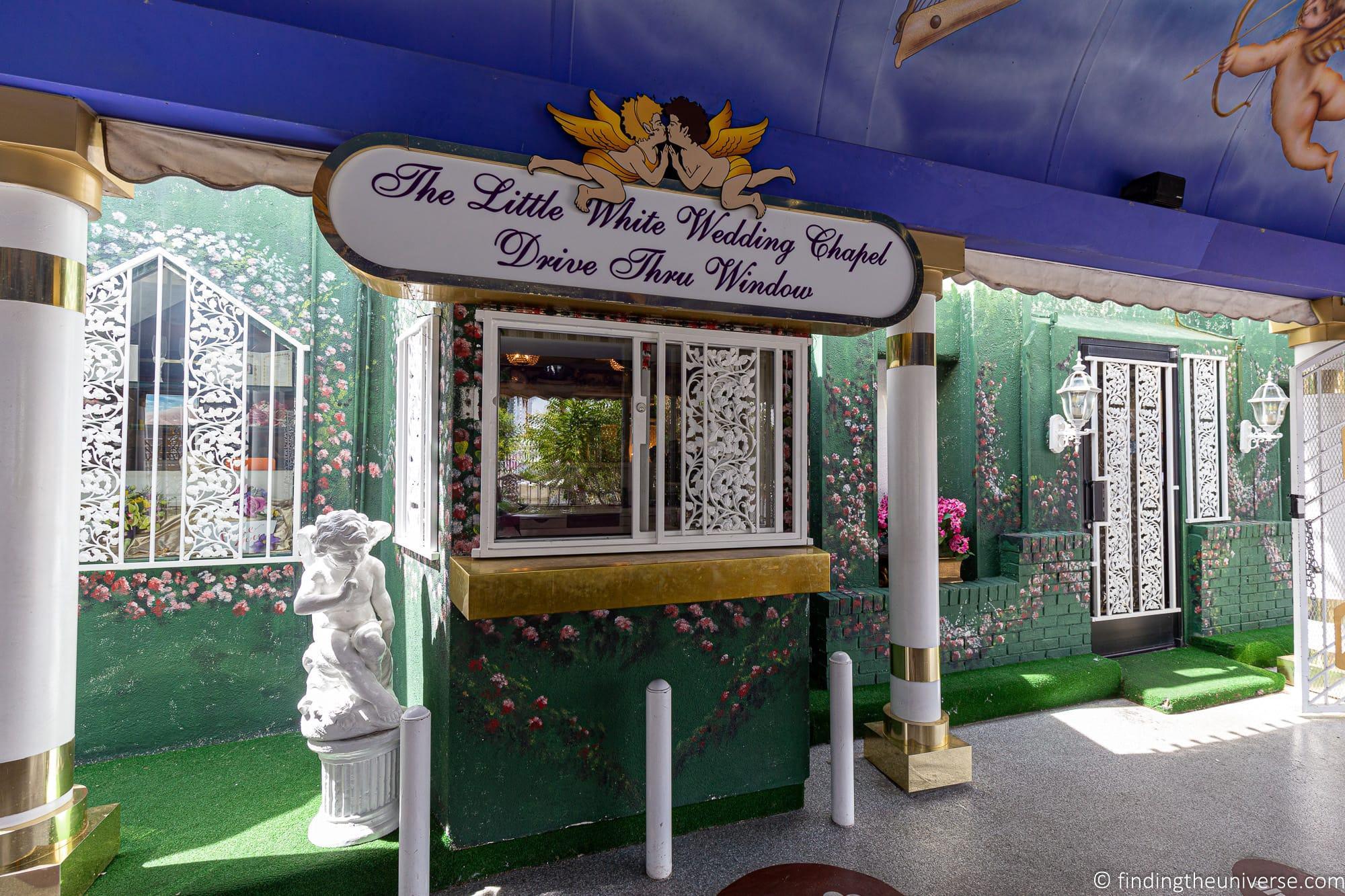 Las Vegas drive through wedding chapel