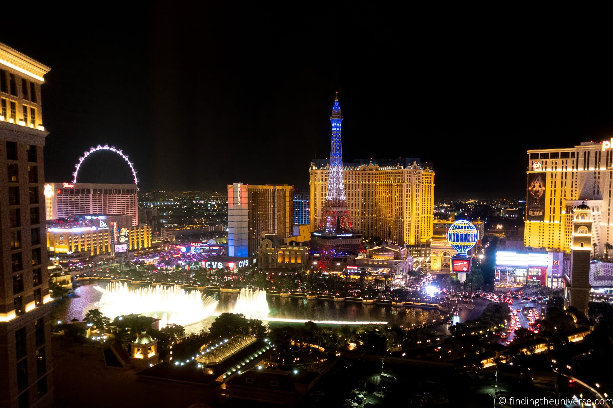 View of Strip from Bellagio Hotel Las Vegas