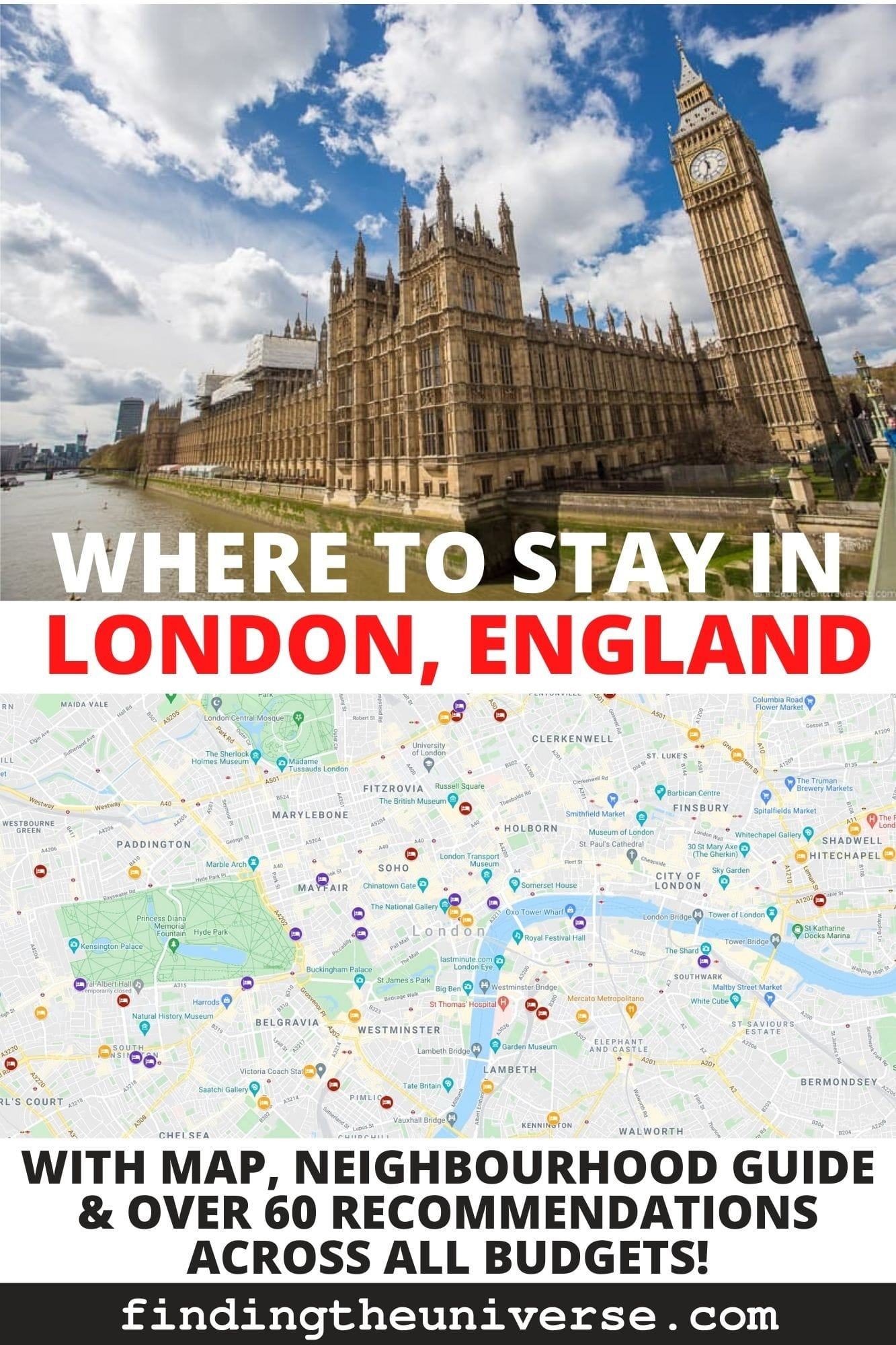 A detailed guide to where to stay in London. Overview of all the neighbourhoods, tips on the best places to stay and options for every budget