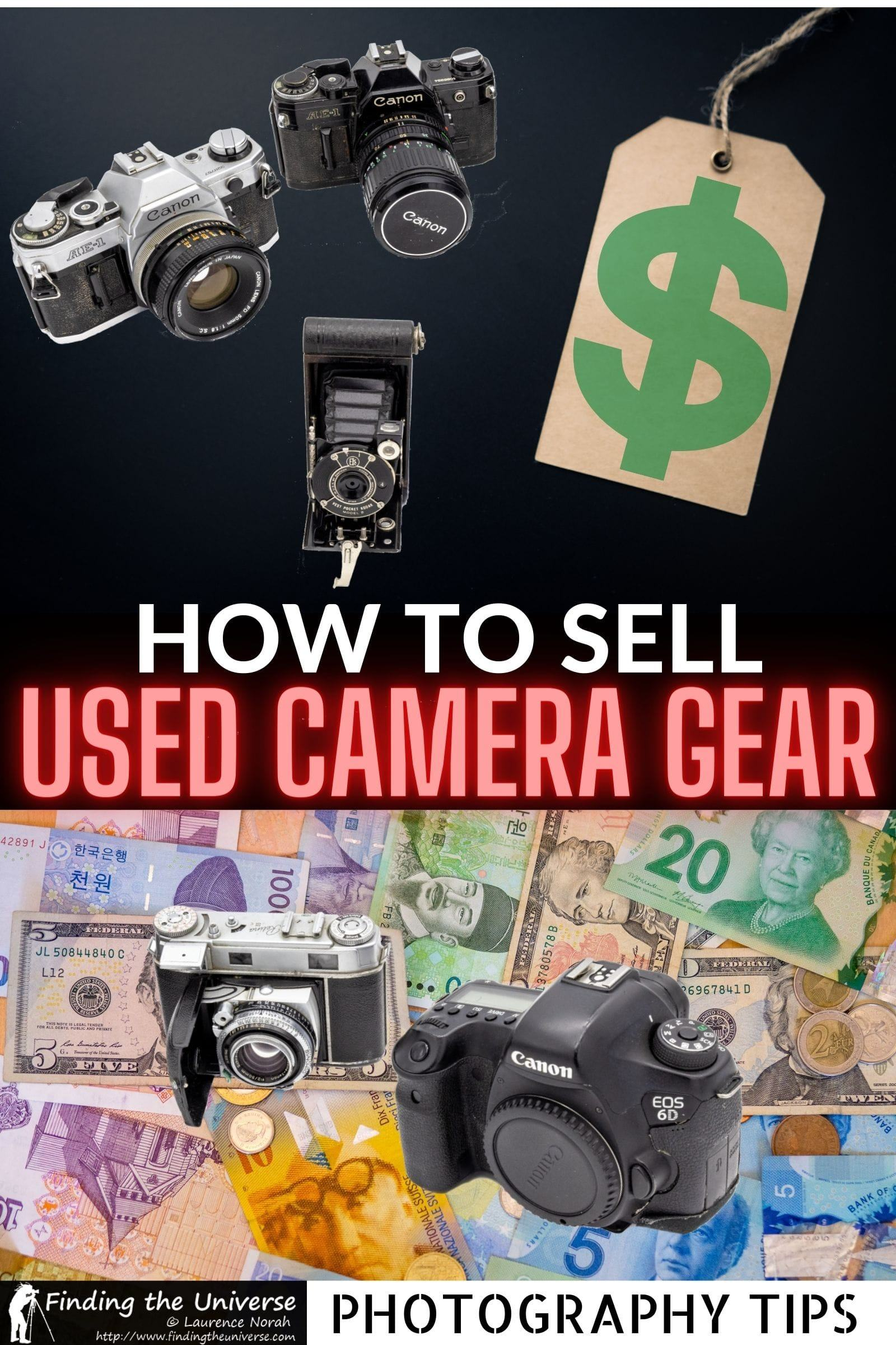 A guide to where to sell used cameras, as well as used lenses and other photography gear. All the options plus tips on selling used equipment